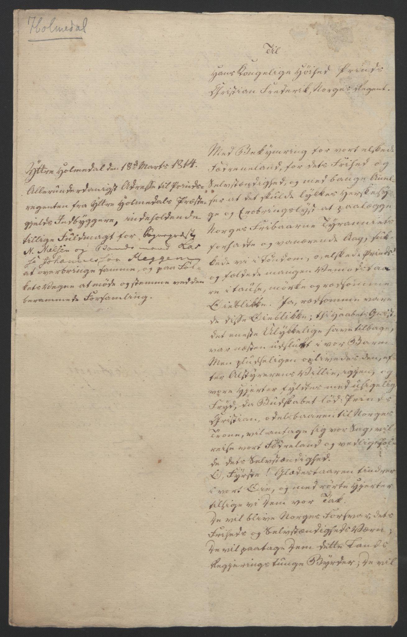 RA, Statsrådssekretariatet, D/Db/L0008: Fullmakter for Eidsvollsrepresentantene i 1814. , 1814, s. 326
