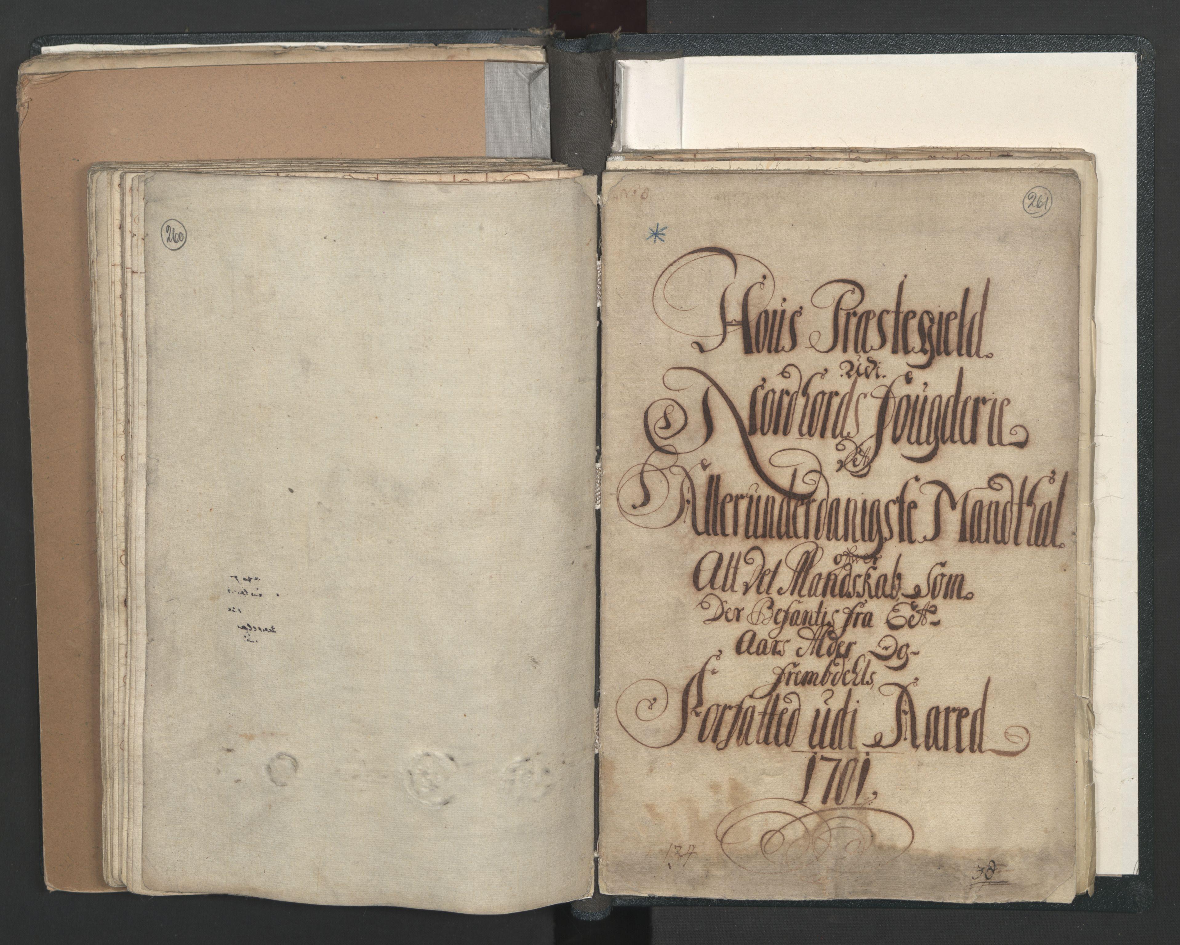 RA, Manntallet 1701, nr. 7: Nordhordland og Voss fogderi, 1701, s. 260-261