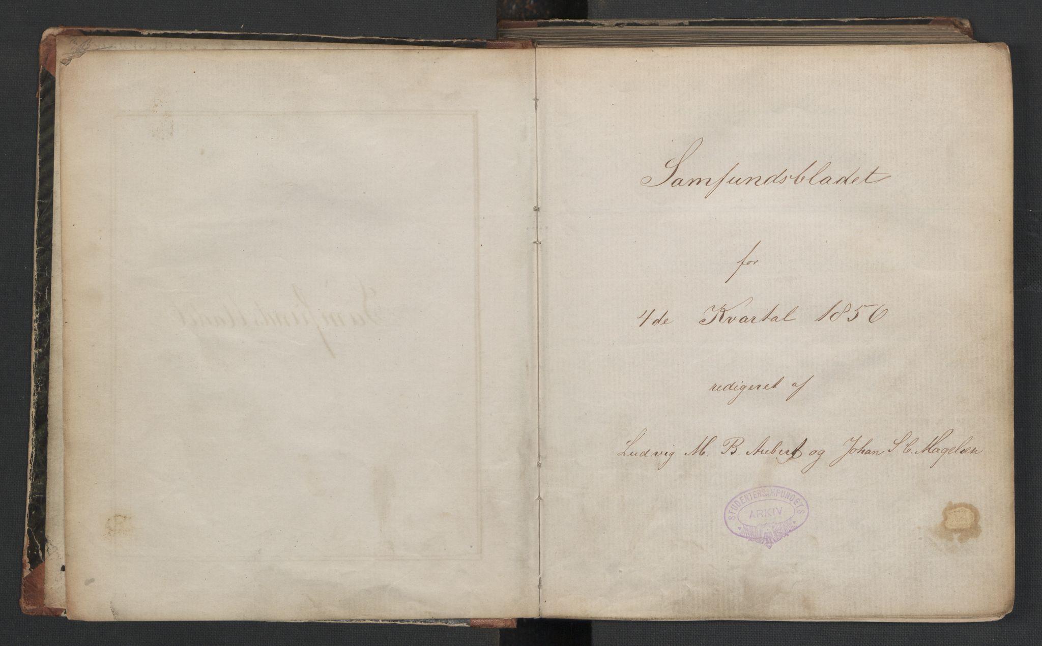 RA, Det Norske Studentersamfund, X/Xa/L0006, 1856-1857, s. 3