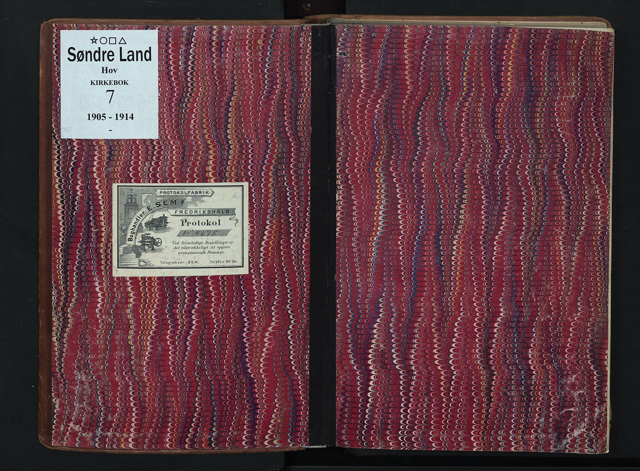 SAH, Søndre Land prestekontor, K/L0007: Ministerialbok nr. 7, 1905-1914