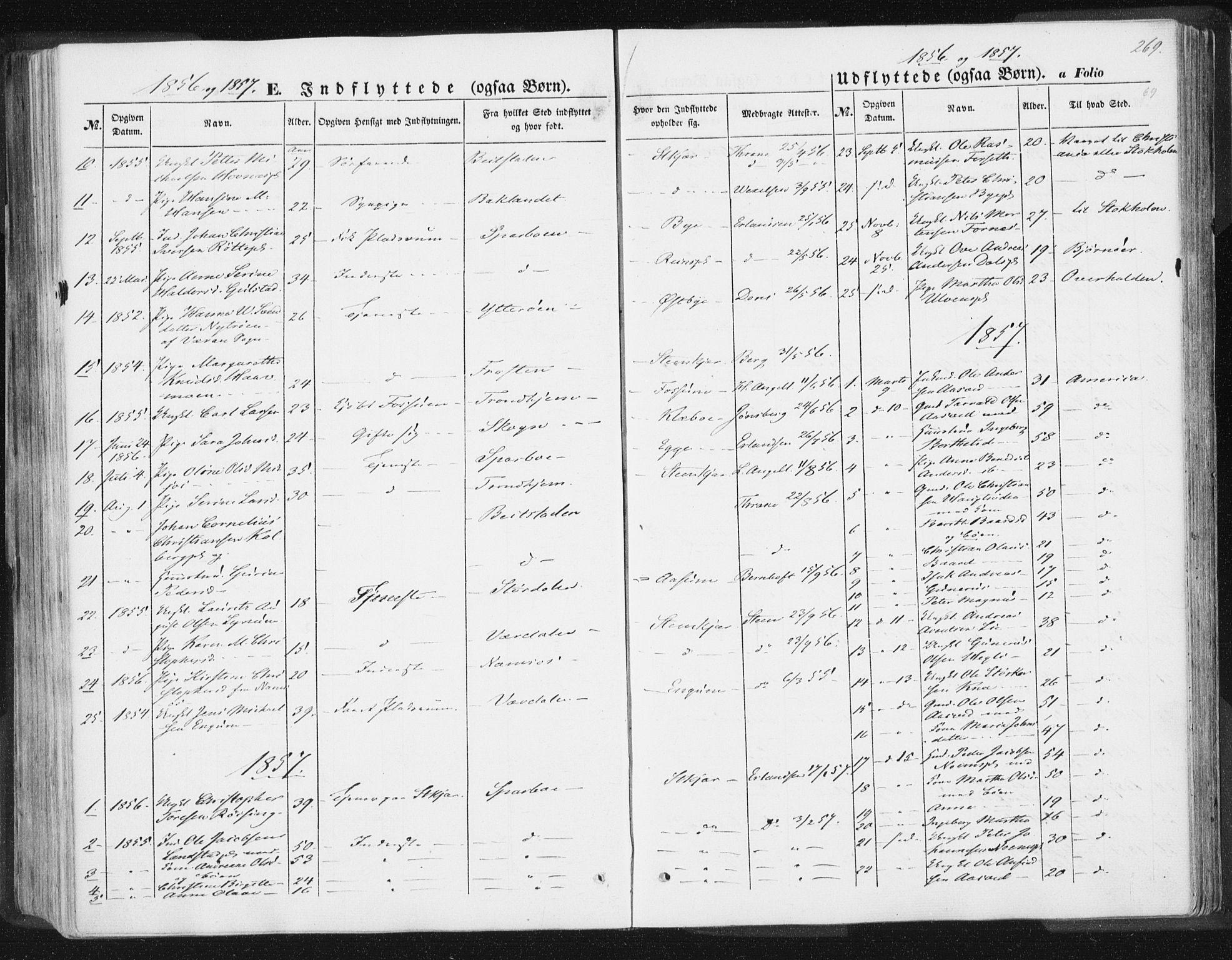 SAT, Ministerialprotokoller, klokkerbøker og fødselsregistre - Nord-Trøndelag, 746/L0446: Ministerialbok nr. 746A05, 1846-1859, s. 269