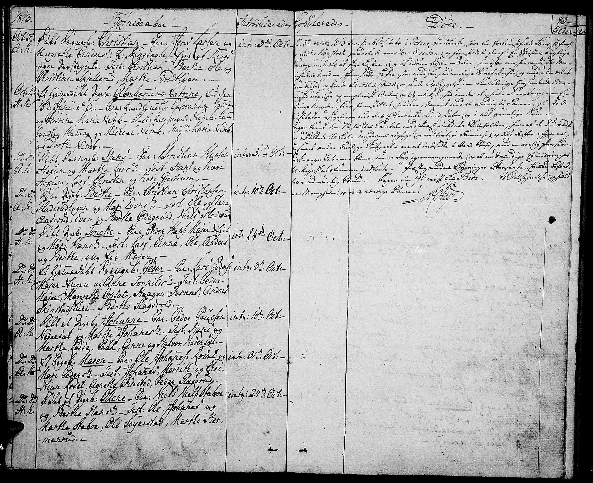 SAH, Toten prestekontor, Ministerialbok nr. 8, 1809-1814, s. 83
