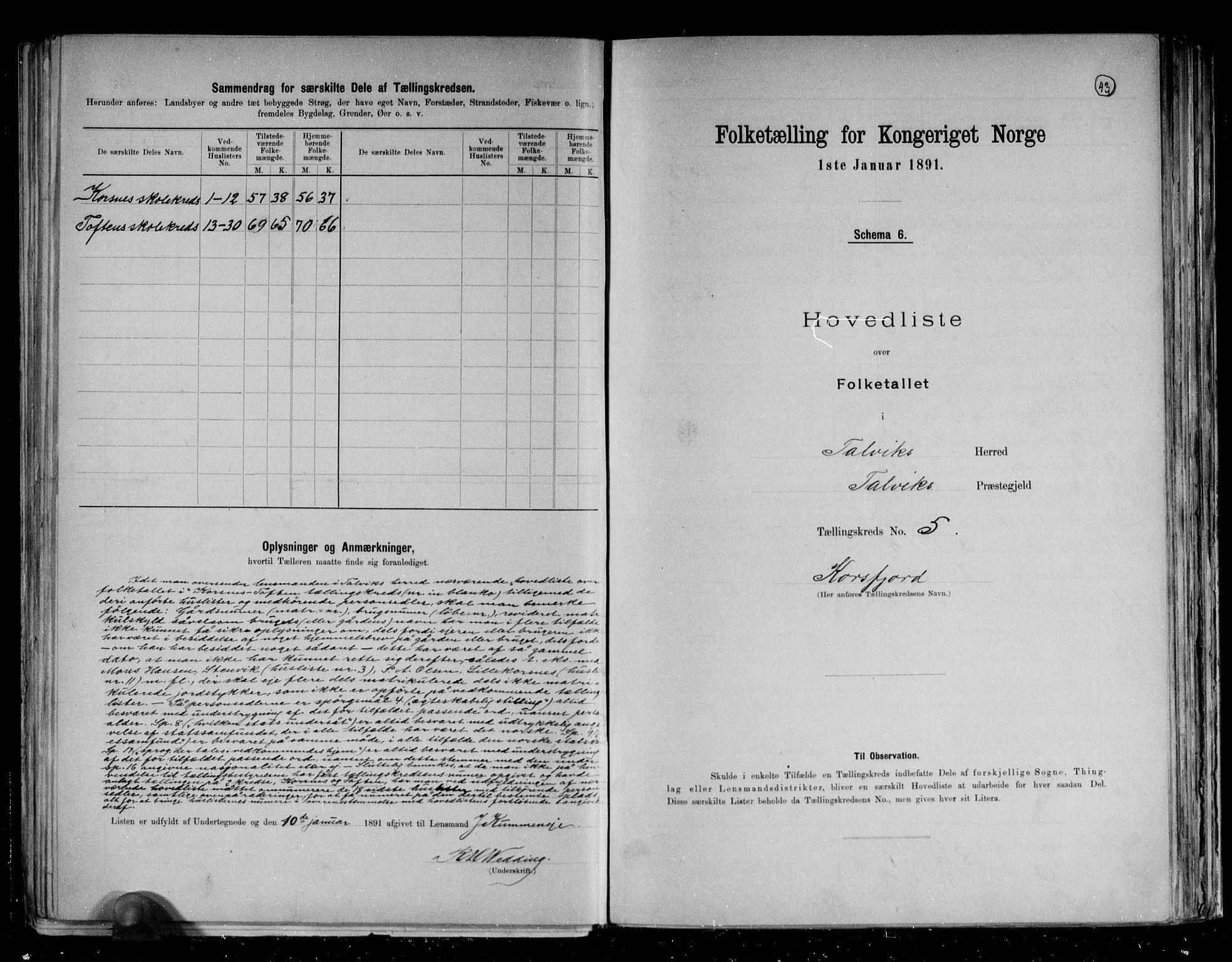 RA, Folketelling 1891 for 2013 Talvik herred, 1891, s. 16