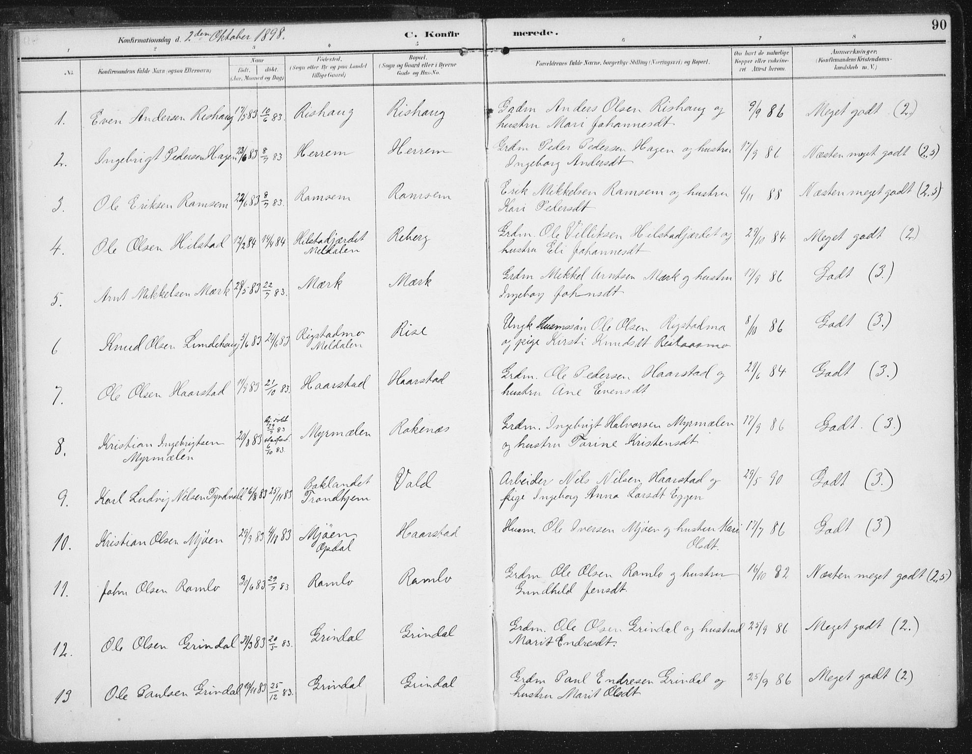 SAT, Ministerialprotokoller, klokkerbøker og fødselsregistre - Sør-Trøndelag, 674/L0872: Ministerialbok nr. 674A04, 1897-1907, s. 90
