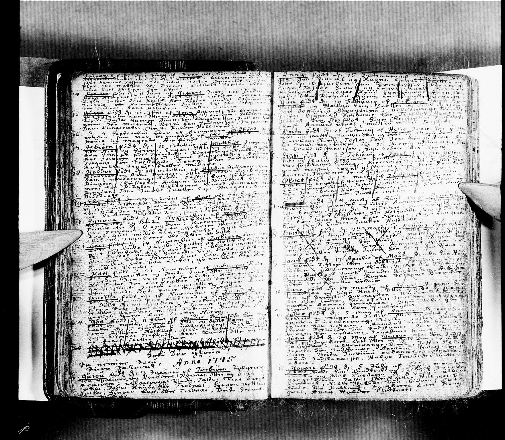 SAB, Ullensvang Sokneprestembete, H/Haa: Ministerialbok nr. A 4 /2, 1732-1758