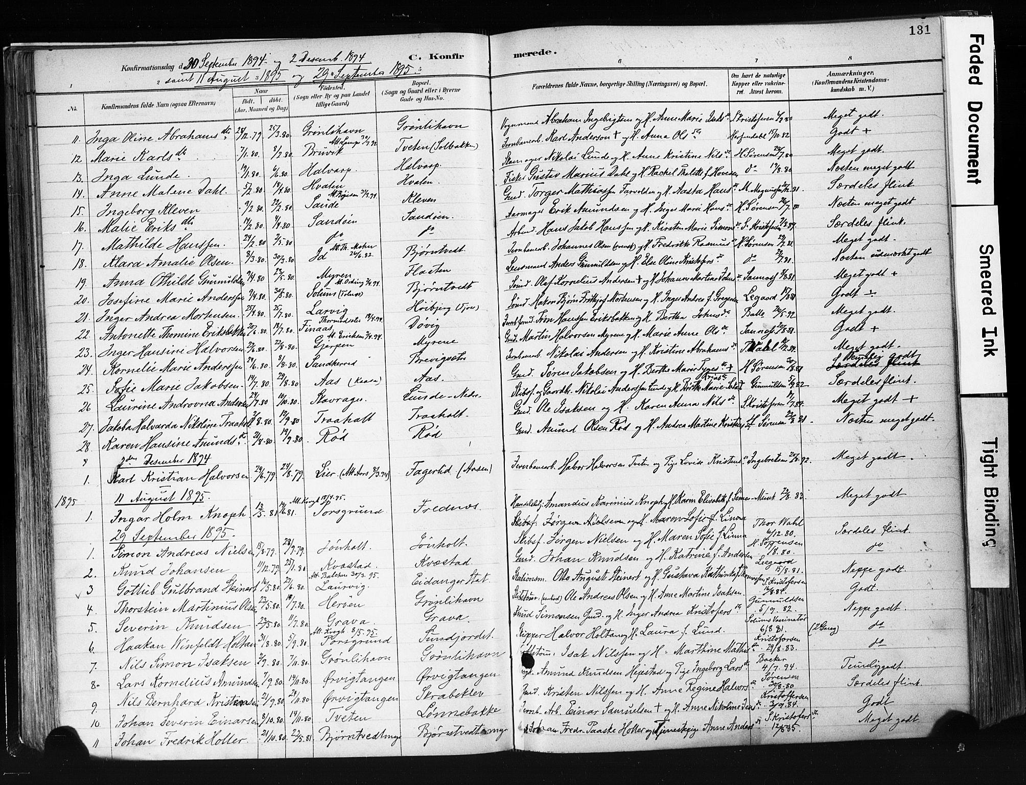SAKO, Eidanger kirkebøker, F/Fa/L0012: Ministerialbok nr. 12, 1879-1900, s. 131
