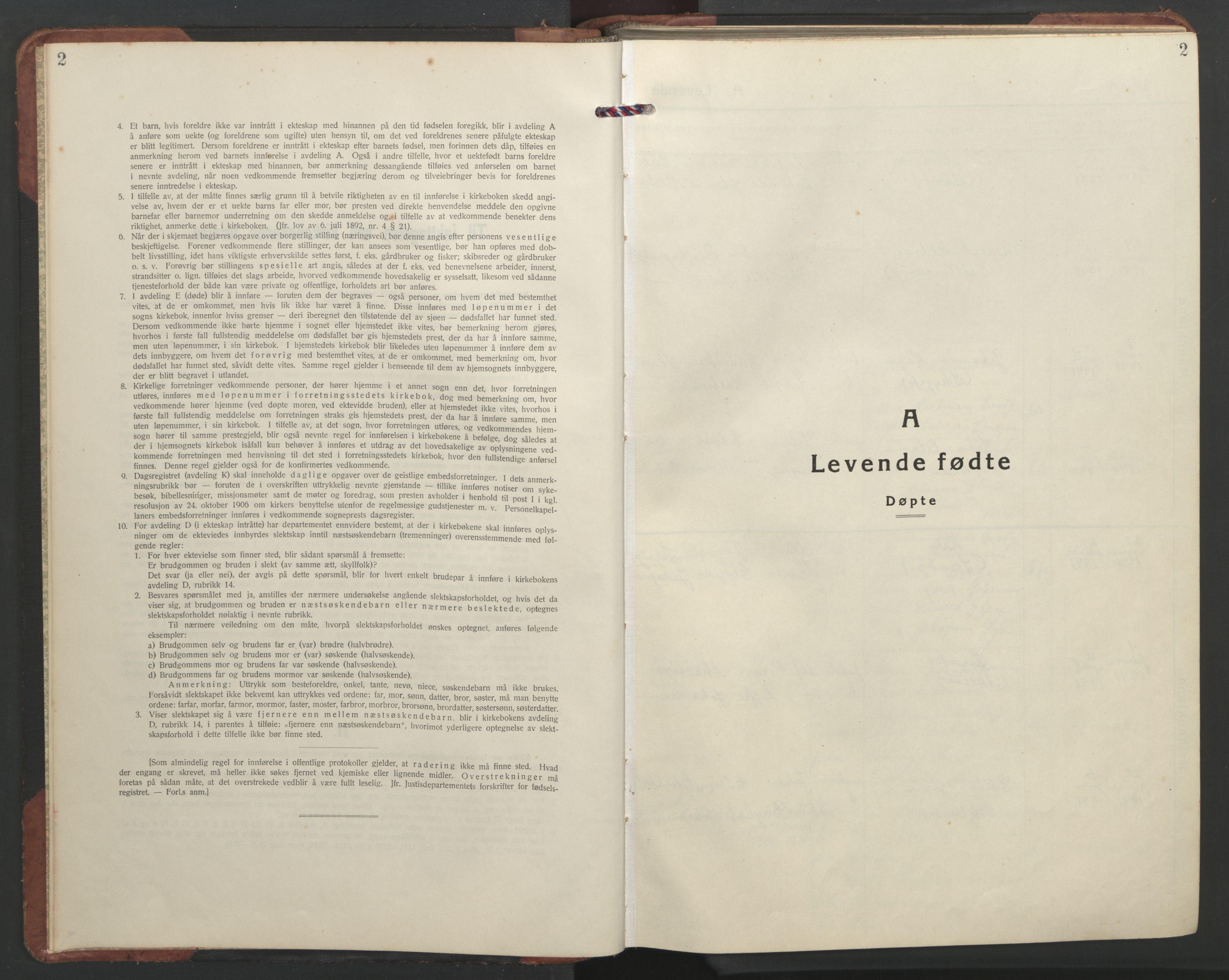 SAT, Ministerialprotokoller, klokkerbøker og fødselsregistre - Sør-Trøndelag, 637/L0564: Klokkerbok nr. 637C05, 1928-1968, s. 2