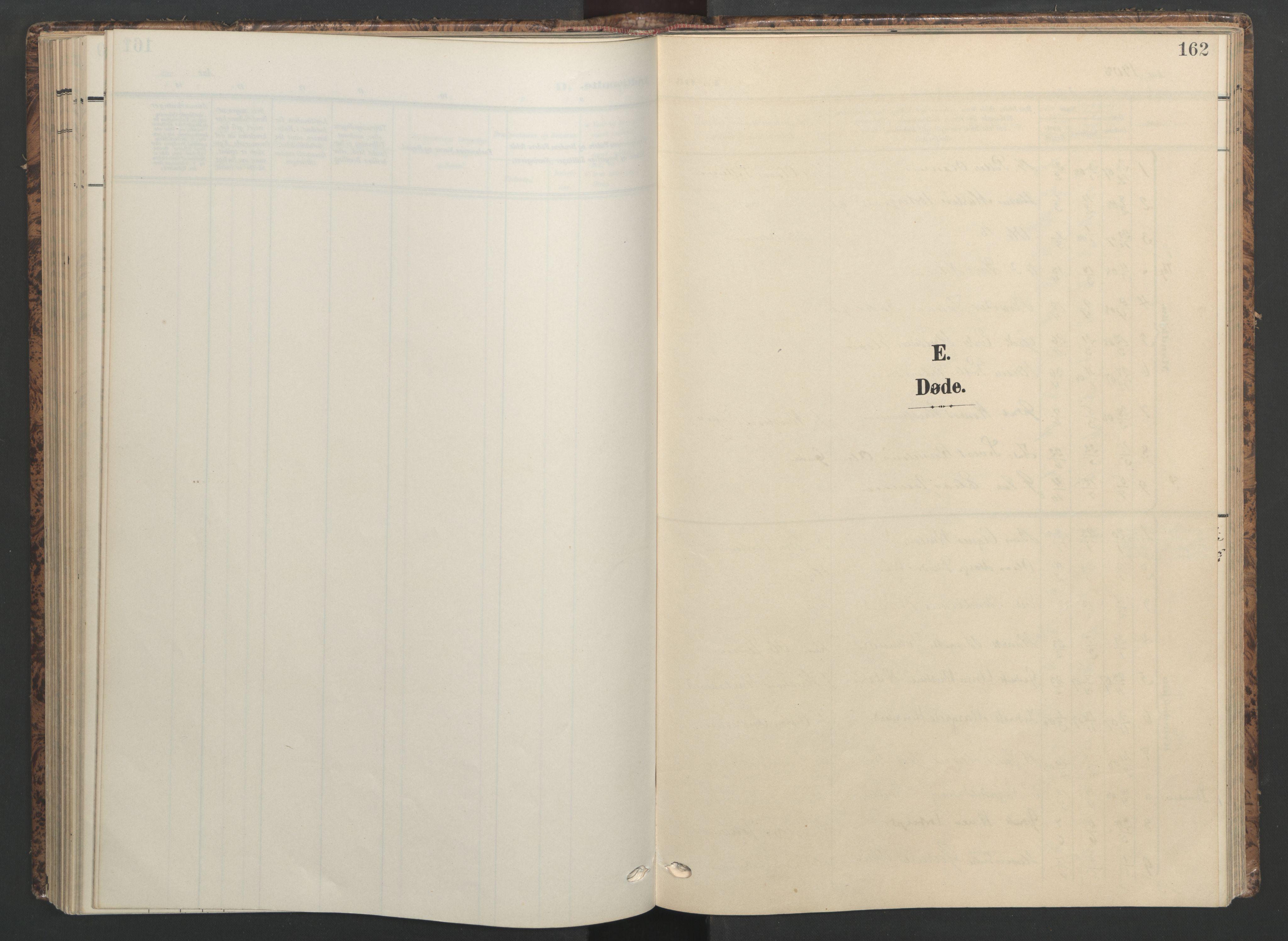 SAT, Ministerialprotokoller, klokkerbøker og fødselsregistre - Sør-Trøndelag, 655/L0682: Ministerialbok nr. 655A11, 1908-1922, s. 162