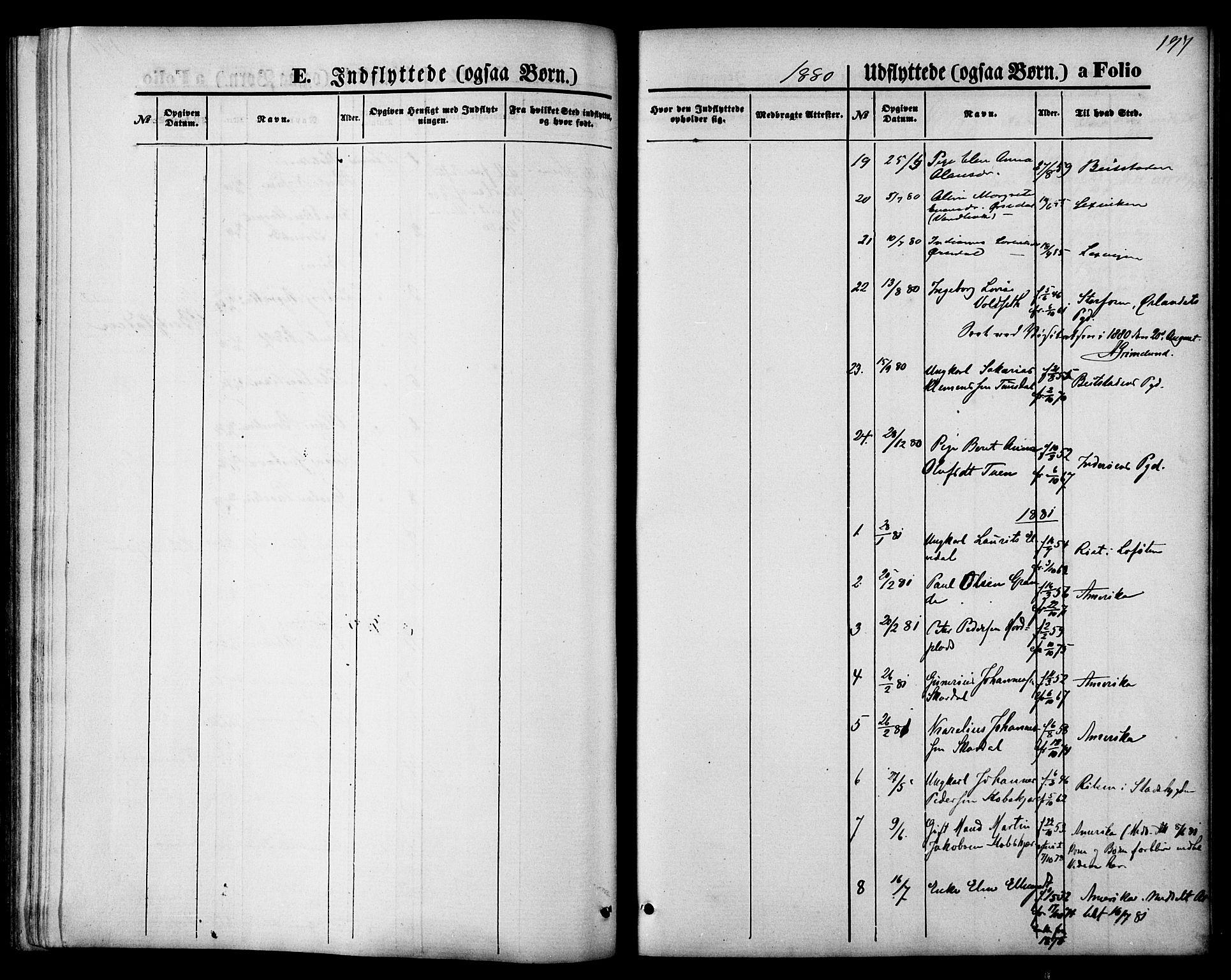 SAT, Ministerialprotokoller, klokkerbøker og fødselsregistre - Nord-Trøndelag, 744/L0419: Ministerialbok nr. 744A03, 1867-1881, s. 197