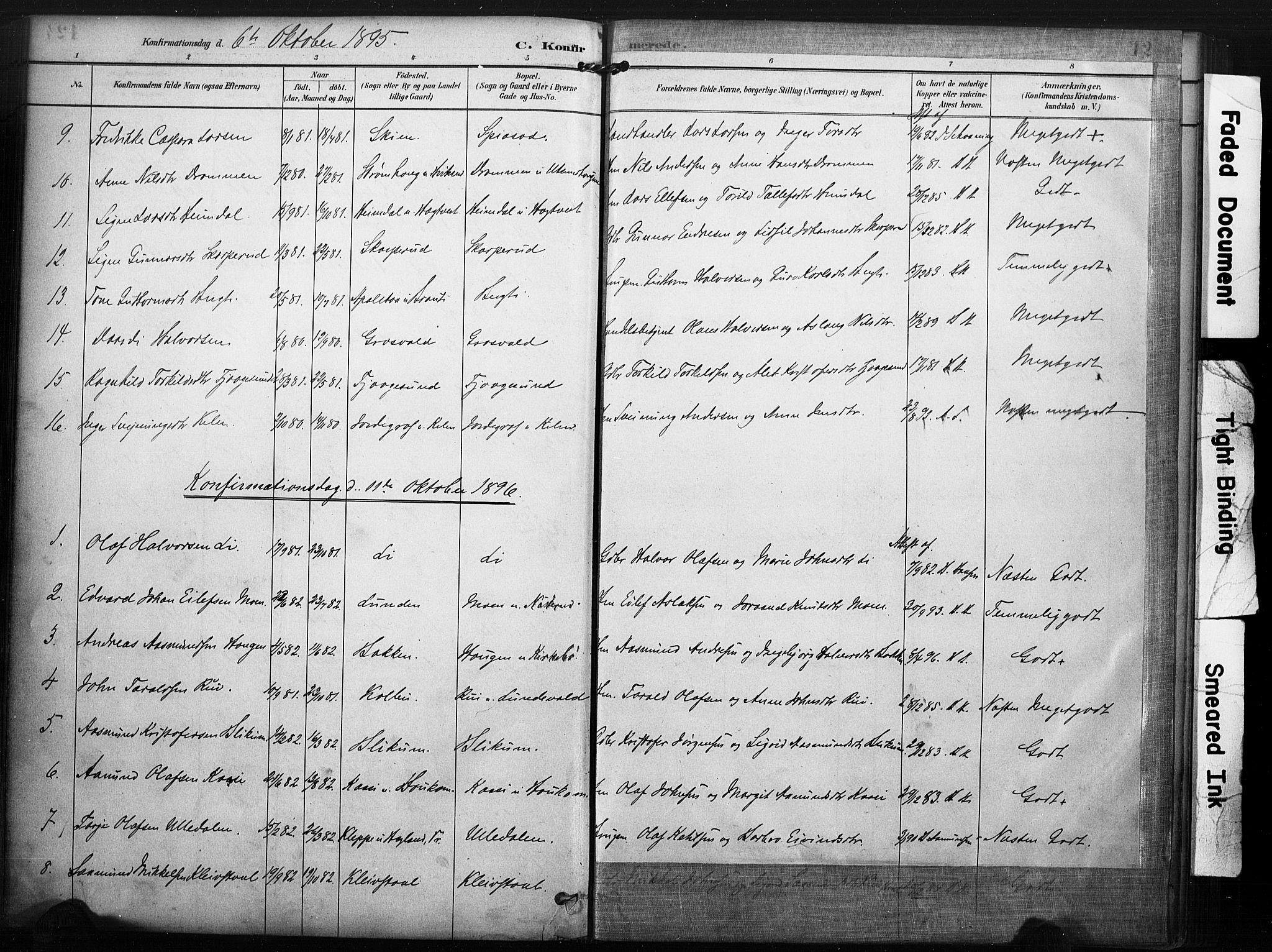 SAKO, Kviteseid kirkebøker, F/Fa/L0008: Ministerialbok nr. I 8, 1882-1903, s. 125