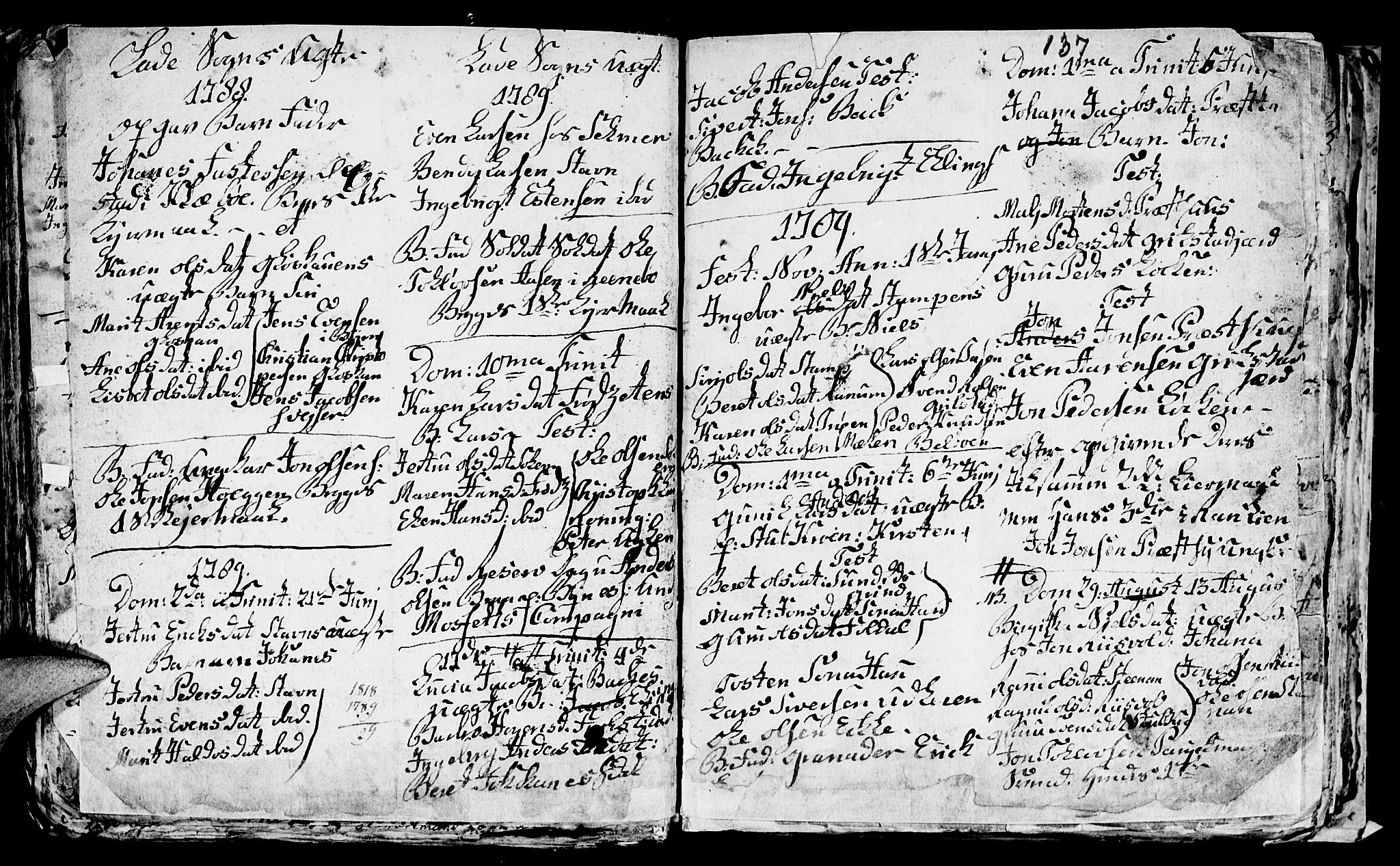 SAT, Ministerialprotokoller, klokkerbøker og fødselsregistre - Sør-Trøndelag, 606/L0305: Klokkerbok nr. 606C01, 1757-1819, s. 137