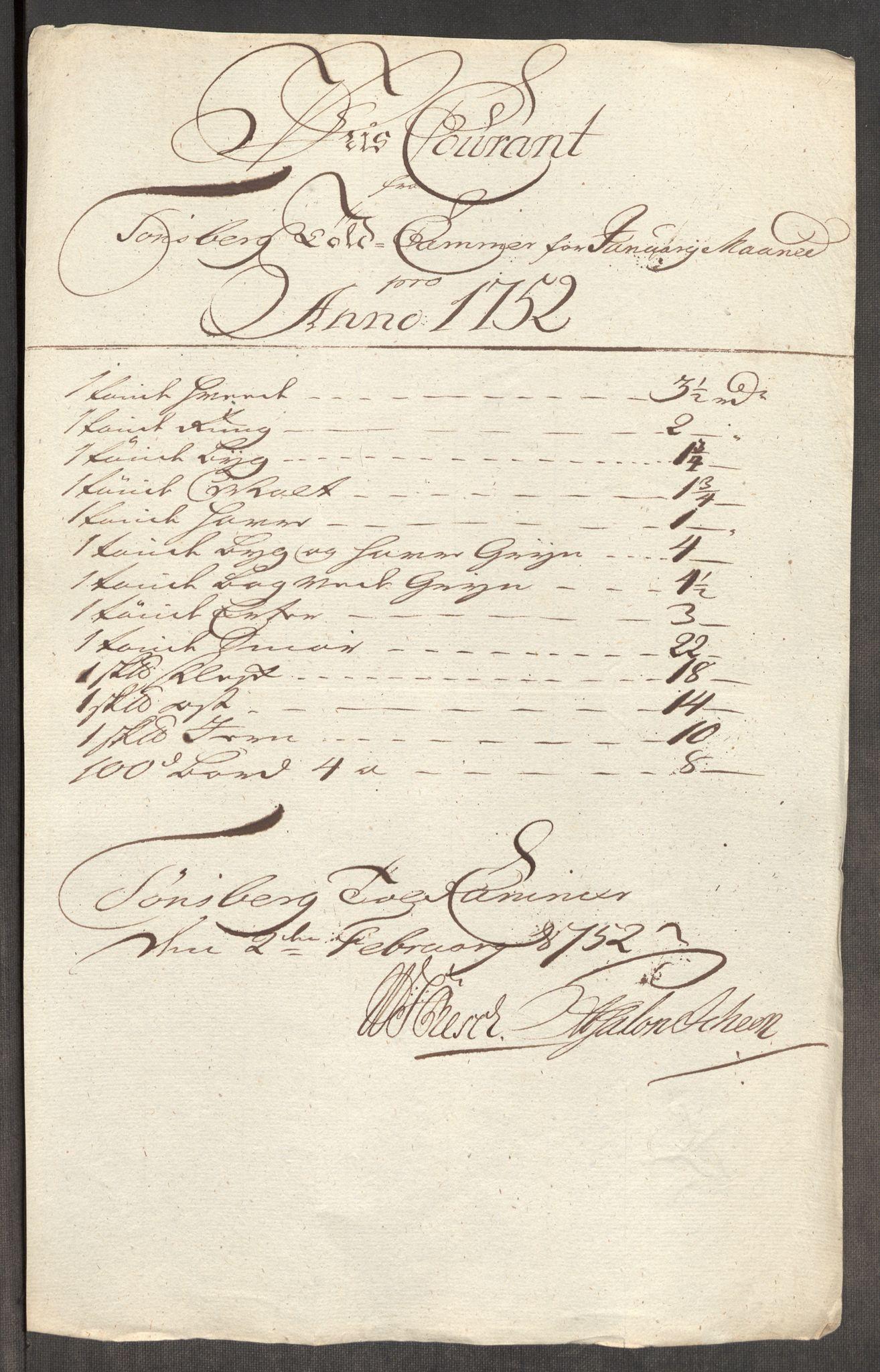 RA, Rentekammeret inntil 1814, Realistisk ordnet avdeling, Oe/L0004: [Ø1]: Priskuranter, 1749-1752, s. 887