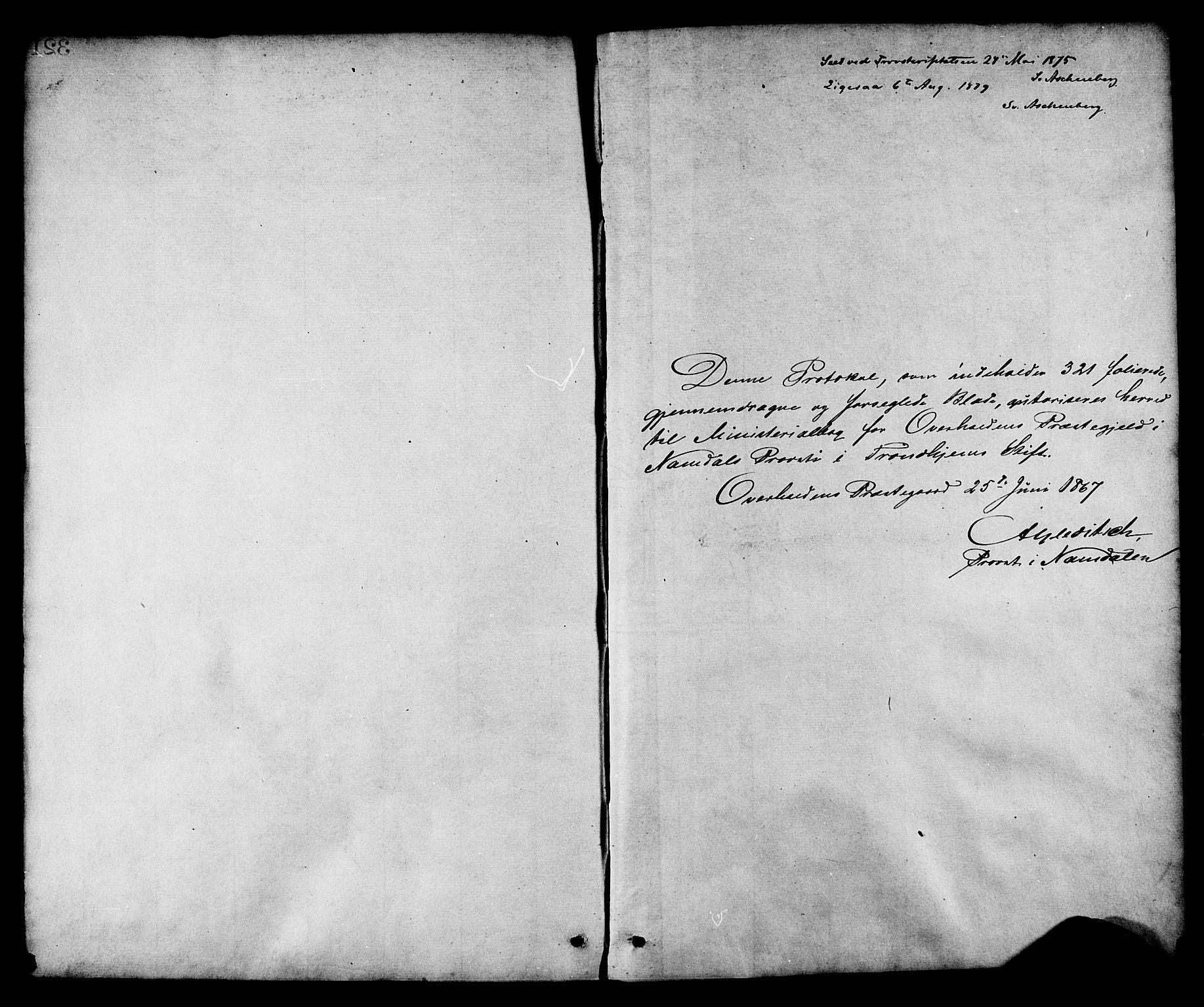 SAT, Ministerialprotokoller, klokkerbøker og fødselsregistre - Nord-Trøndelag, 764/L0554: Ministerialbok nr. 764A09, 1867-1880