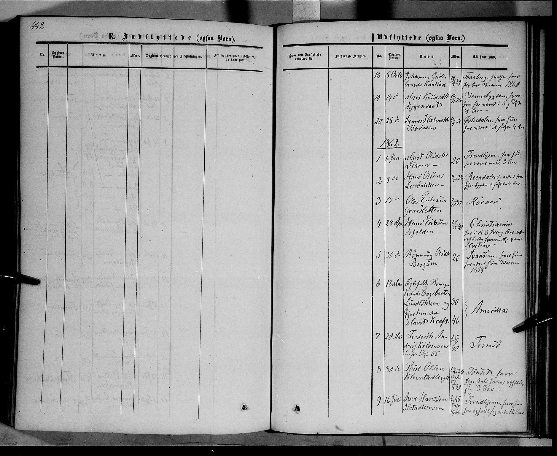 SAH, Nord-Fron prestekontor, Ministerialbok nr. 1, 1851-1864, s. 442