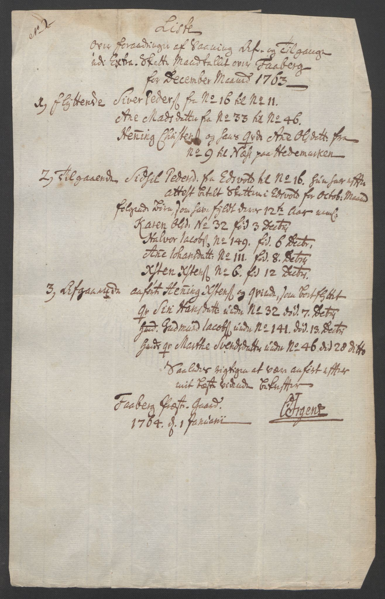RA, Rentekammeret inntil 1814, Reviderte regnskaper, Fogderegnskap, R17/L1266: Ekstraskatten Gudbrandsdal, 1762-1766, s. 320