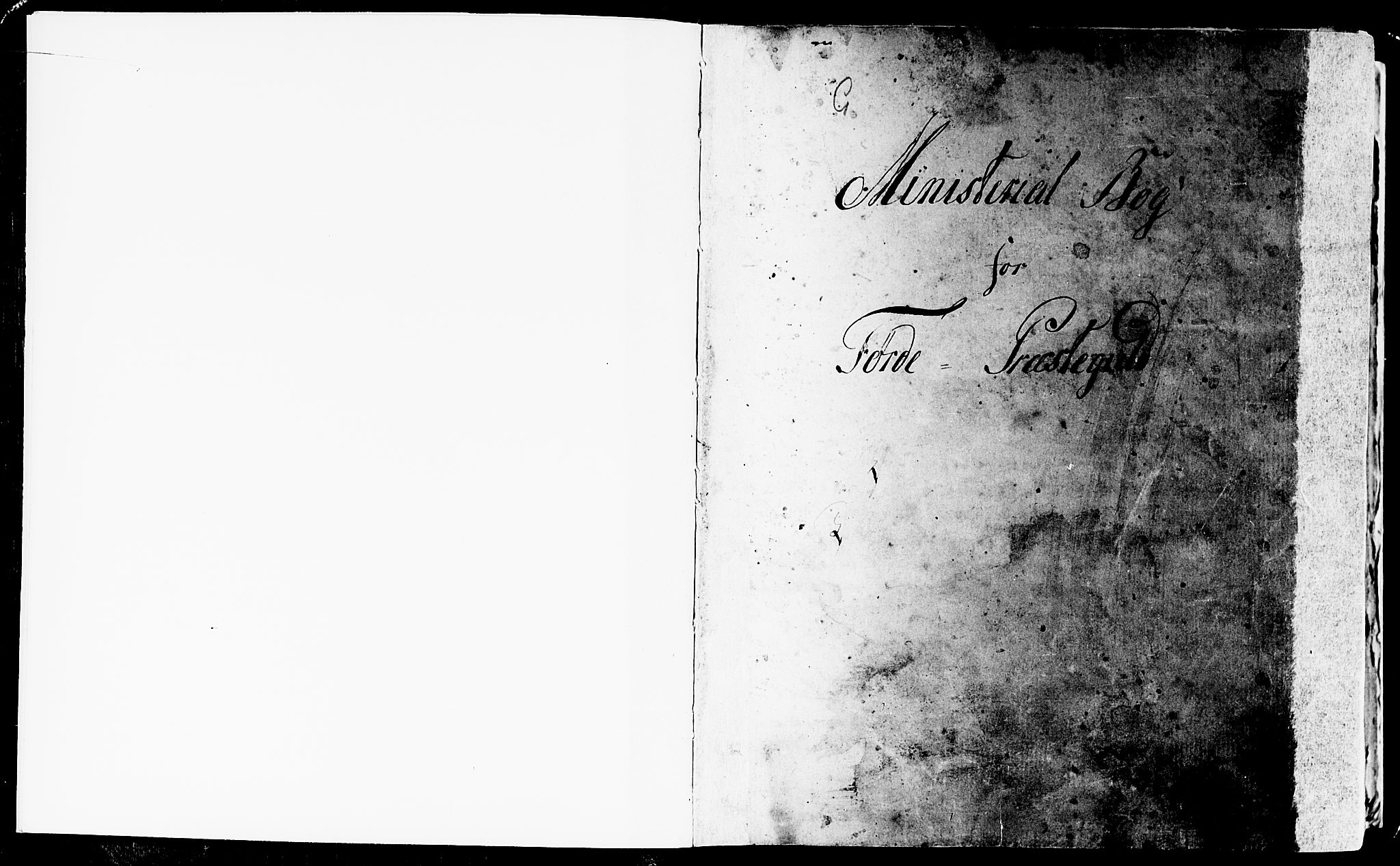 SAB, Førde Sokneprestembete, H/Haa: Ministerialbok nr. A 4, 1781-1803, s. 0-1