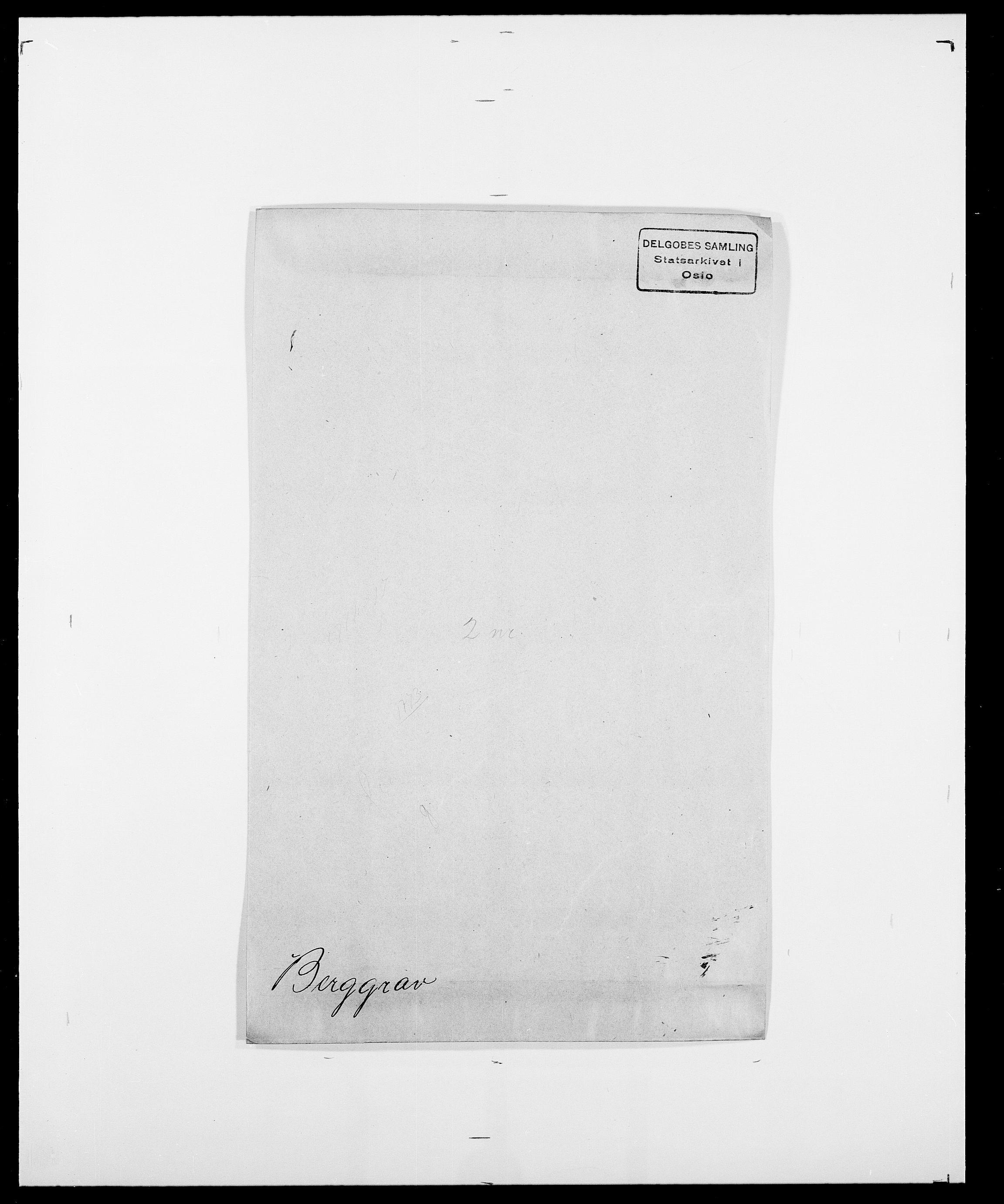 SAO, Delgobe, Charles Antoine - samling, D/Da/L0004: Bergendahl - Blære, s. 22