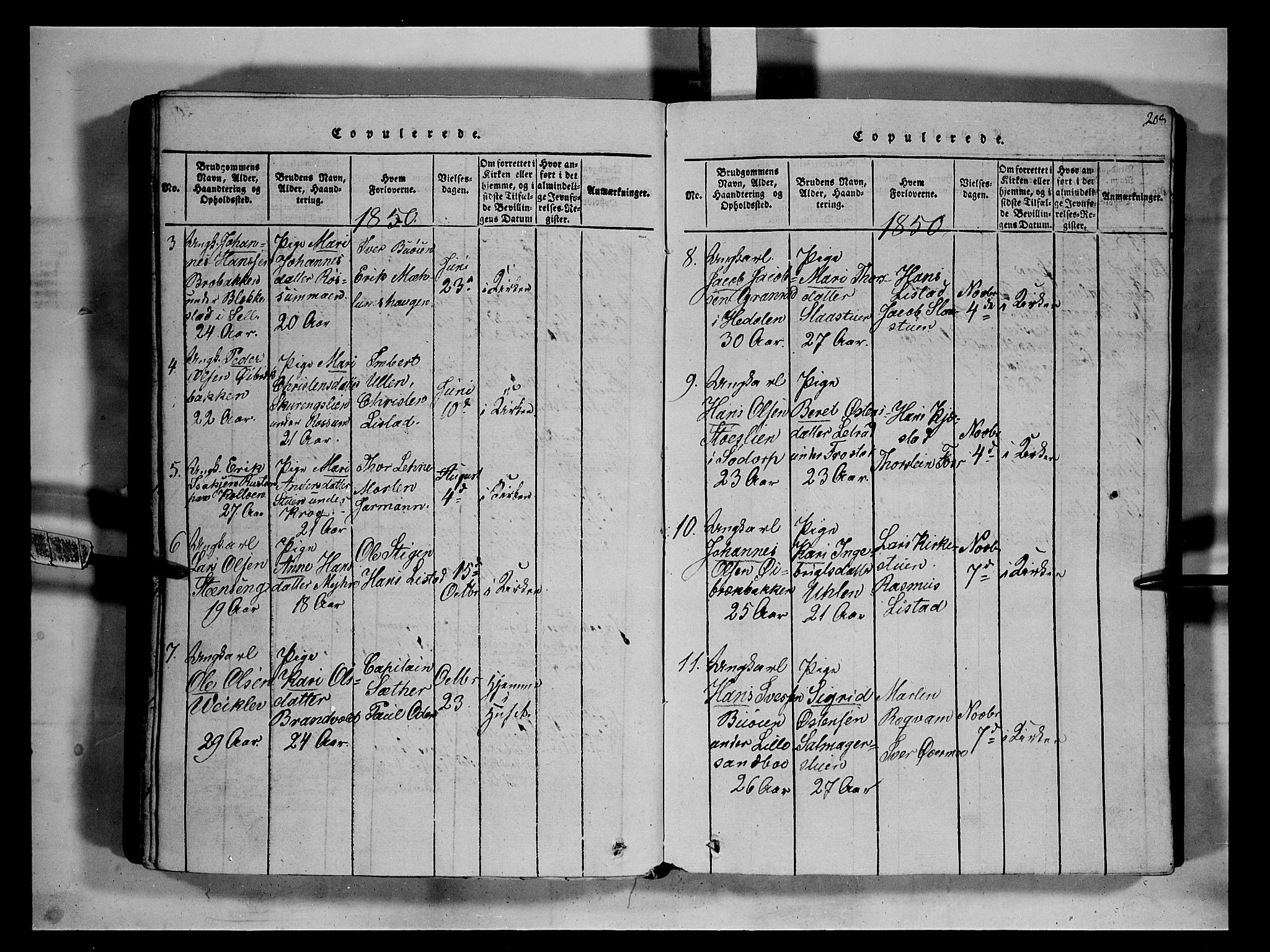 SAH, Fron prestekontor, H/Ha/Hab/L0002: Klokkerbok nr. 2, 1816-1850, s. 208