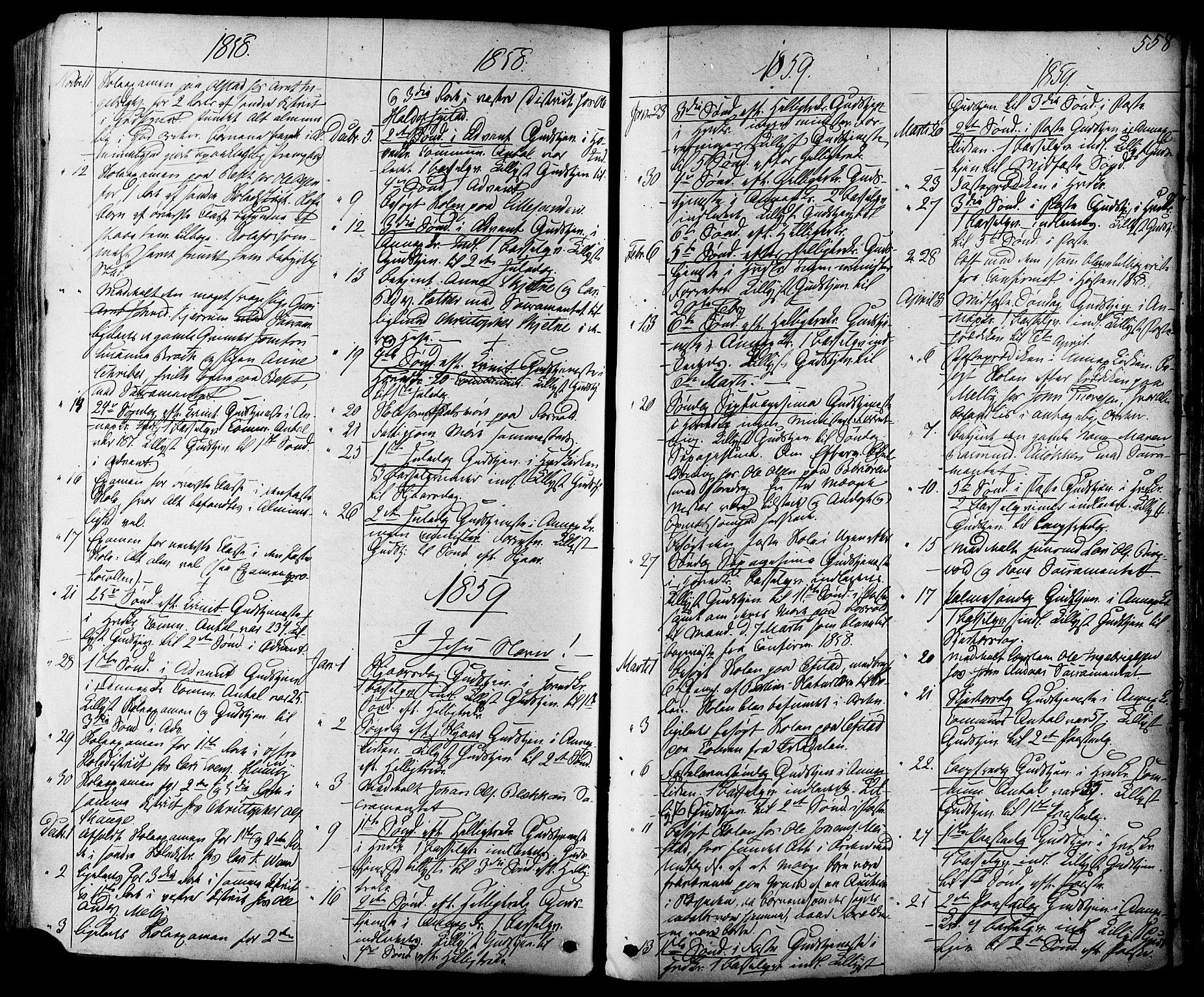 SAT, Ministerialprotokoller, klokkerbøker og fødselsregistre - Sør-Trøndelag, 665/L0772: Ministerialbok nr. 665A07, 1856-1878, s. 558