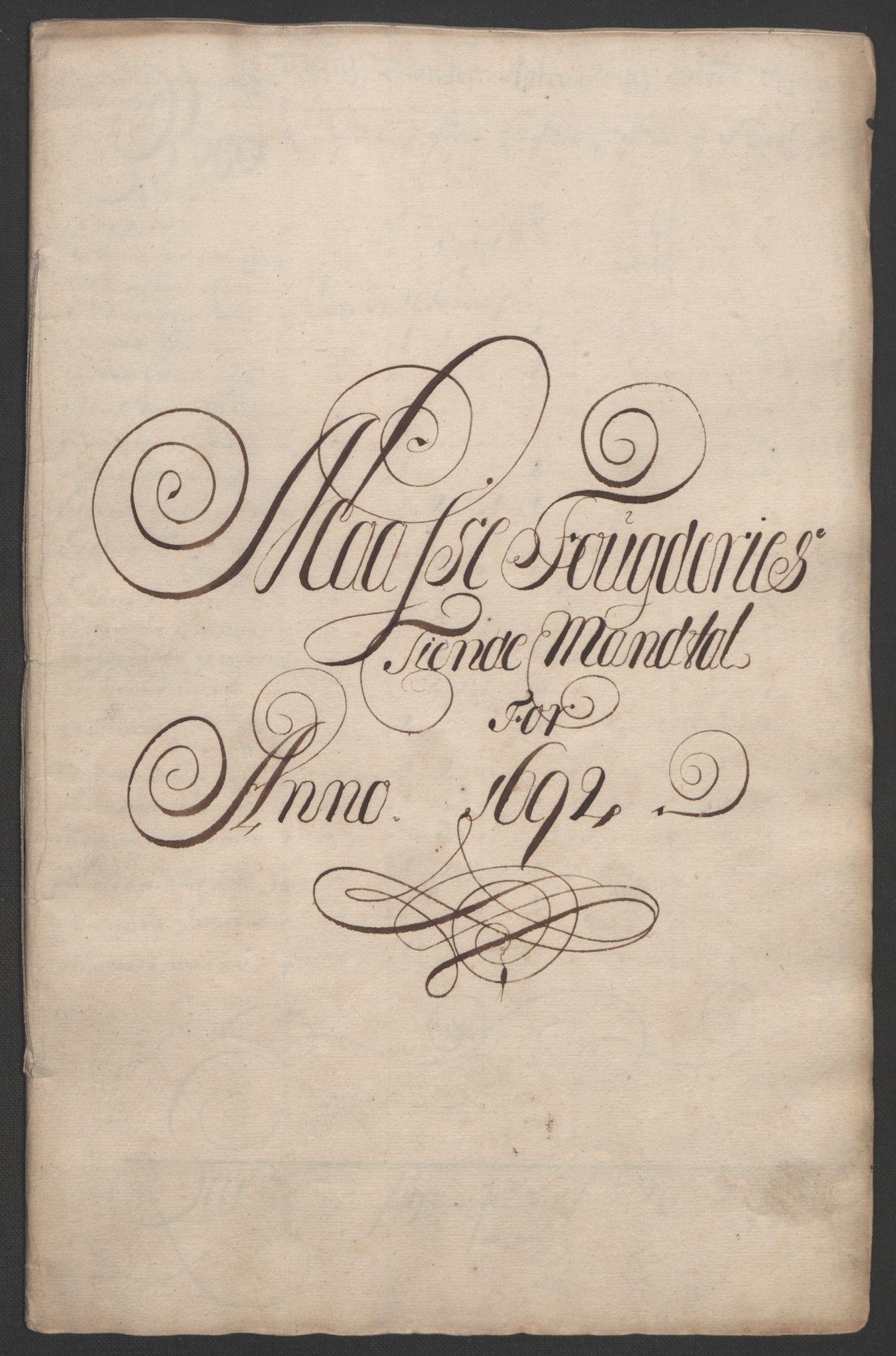 RA, Rentekammeret inntil 1814, Reviderte regnskaper, Fogderegnskap, R02/L0108: Fogderegnskap Moss og Verne kloster, 1692-1693, s. 45