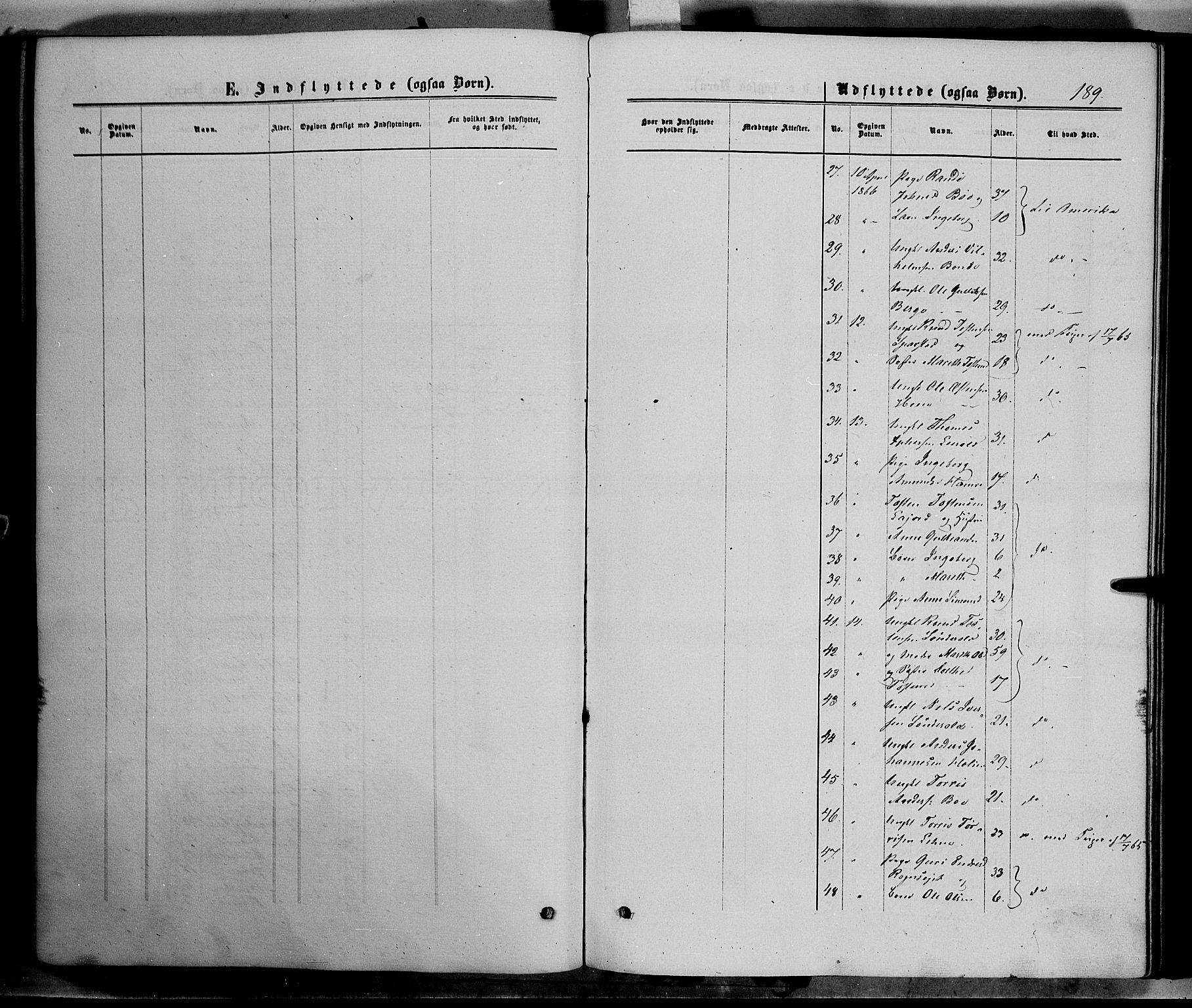 SAH, Vang prestekontor, Valdres, Ministerialbok nr. 7, 1865-1881, s. 189