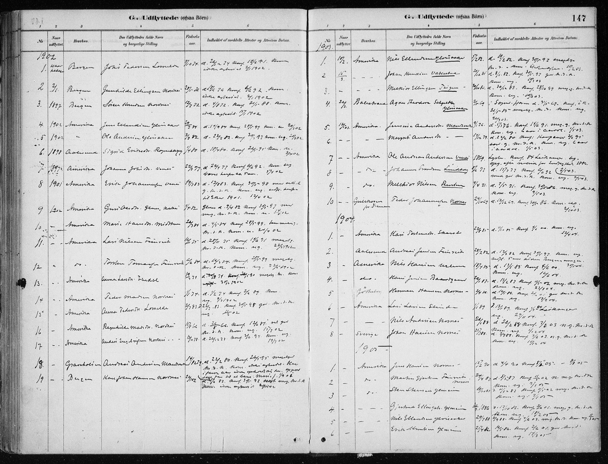 SAB, Sogndal Sokneprestembete, H/Haa/Haac/L0001: Ministerialbok nr. C 1, 1878-1907, s. 147