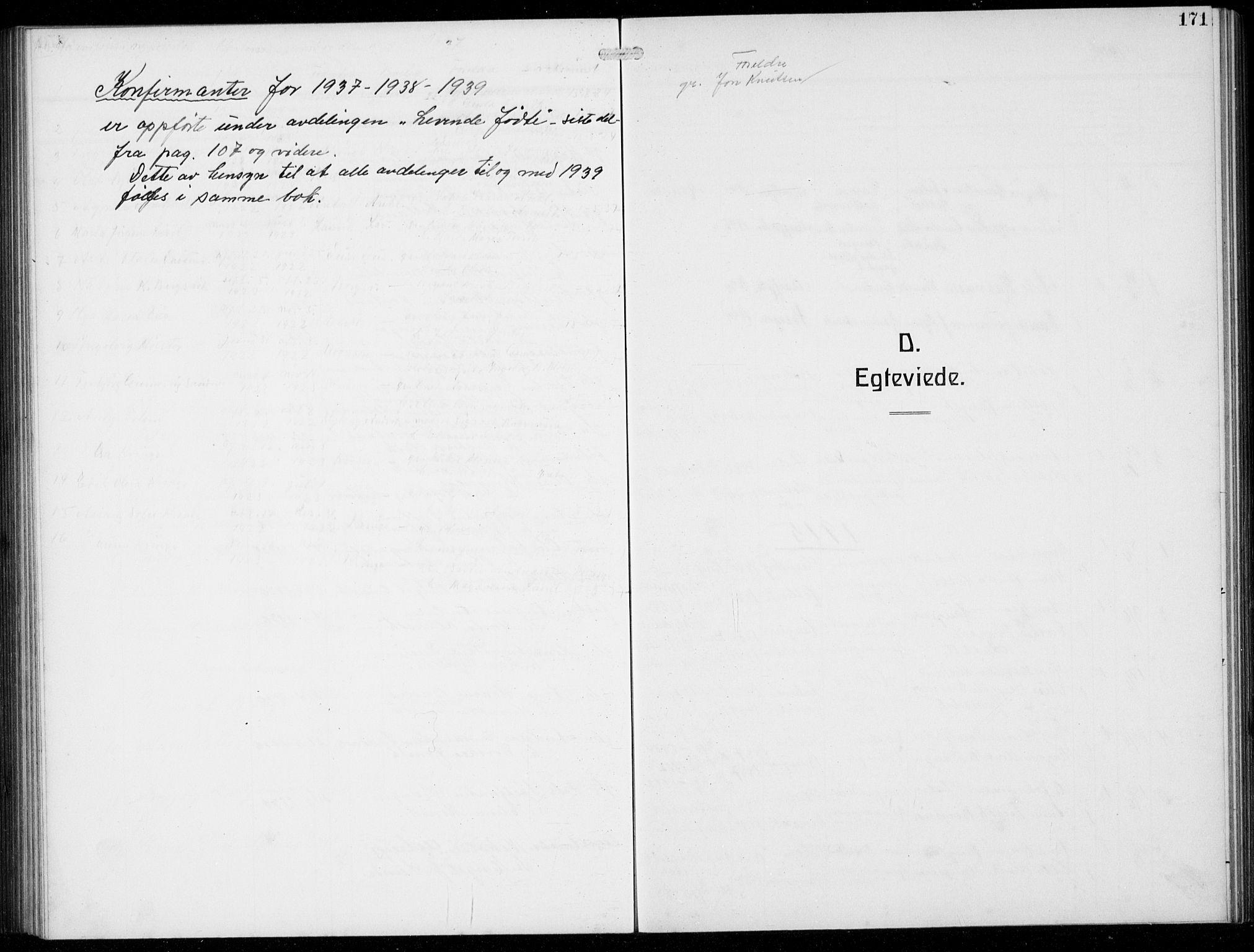 SAB, Masfjorden Soknepresembete, Klokkerbok nr. B  2, 1912-1939, s. 171