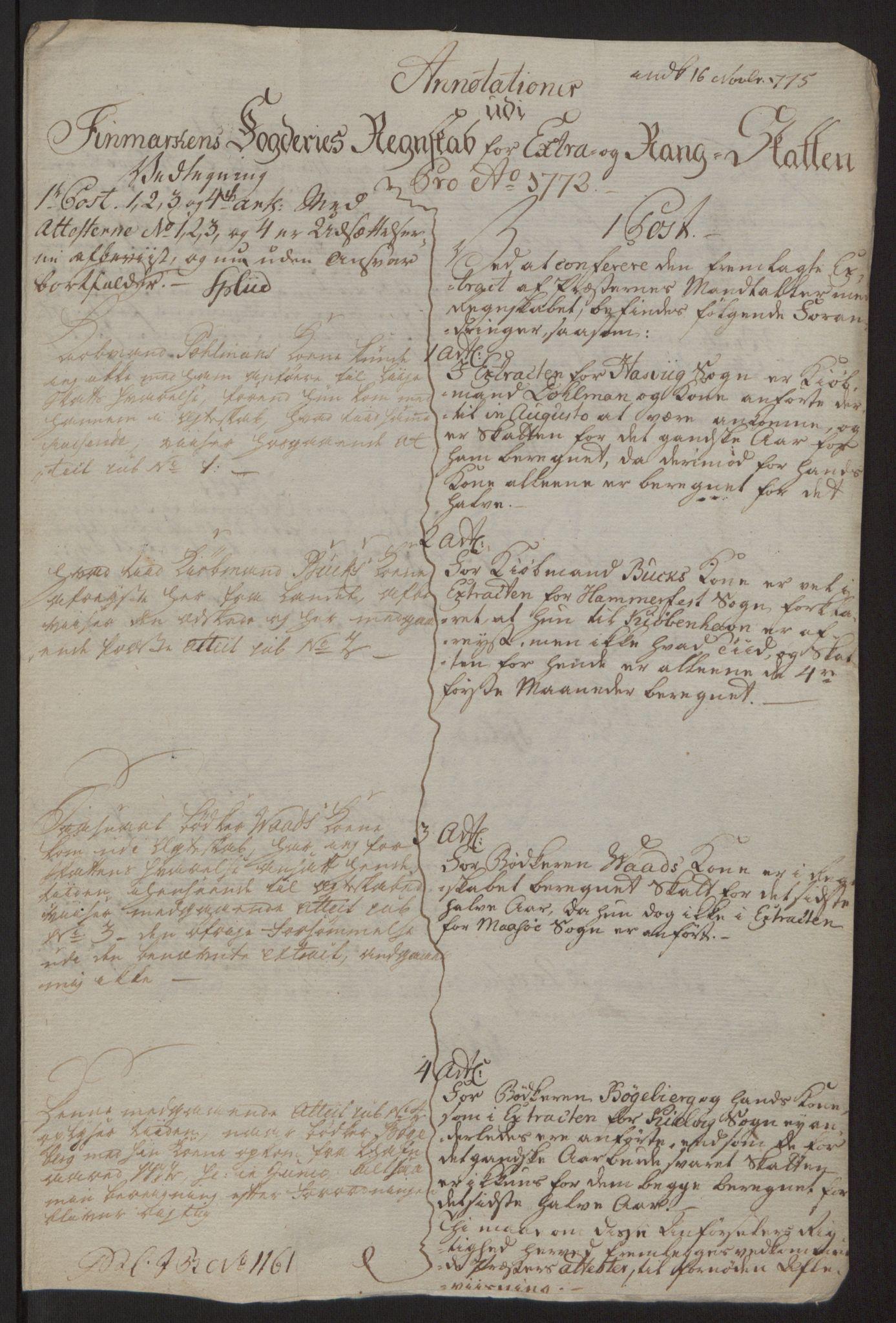 RA, Rentekammeret inntil 1814, Reviderte regnskaper, Fogderegnskap, R69/L4910: Ekstraskatten  Finnmark/Vardøhus, 1762-1772, s. 491