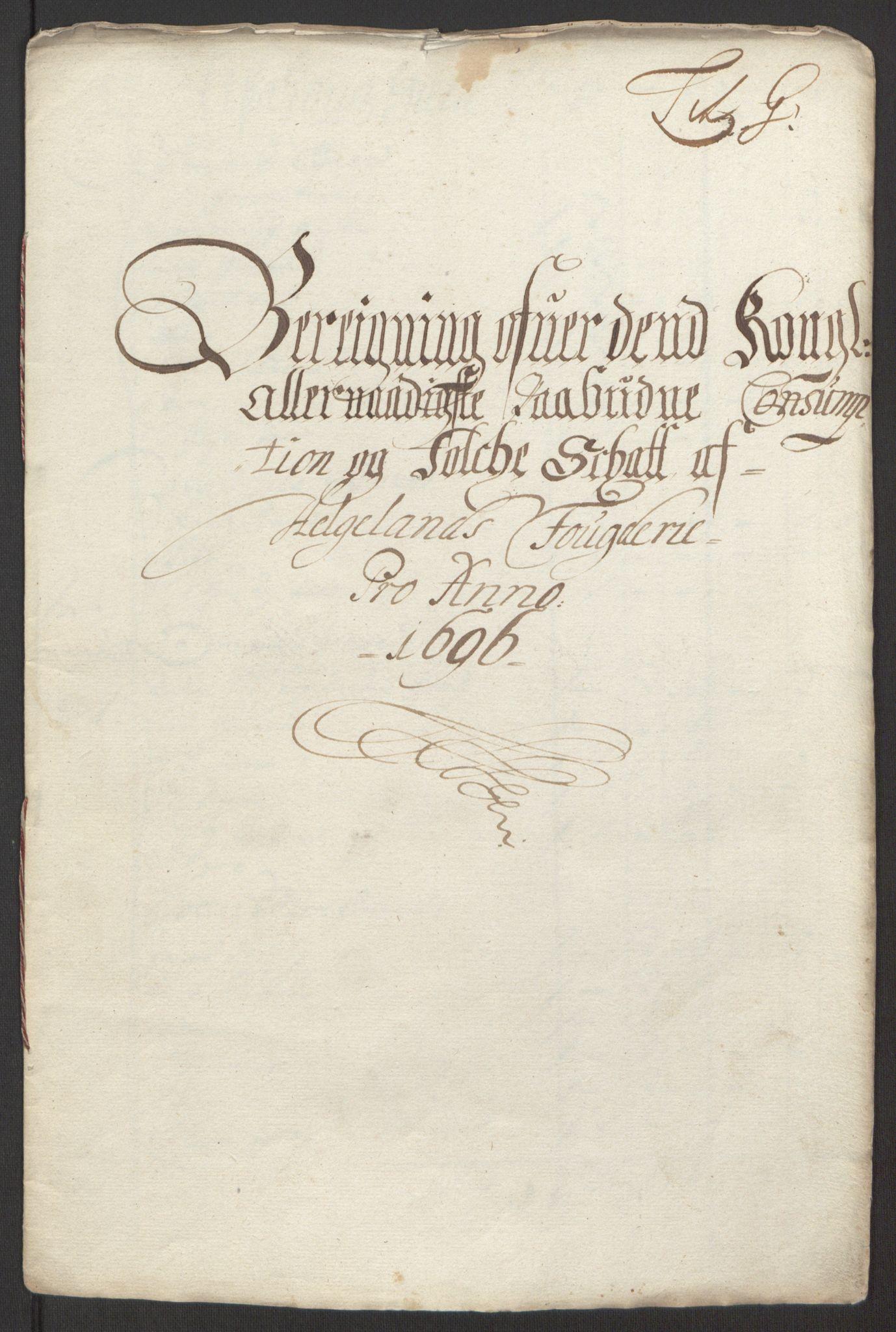 RA, Rentekammeret inntil 1814, Reviderte regnskaper, Fogderegnskap, R65/L4505: Fogderegnskap Helgeland, 1693-1696, s. 512