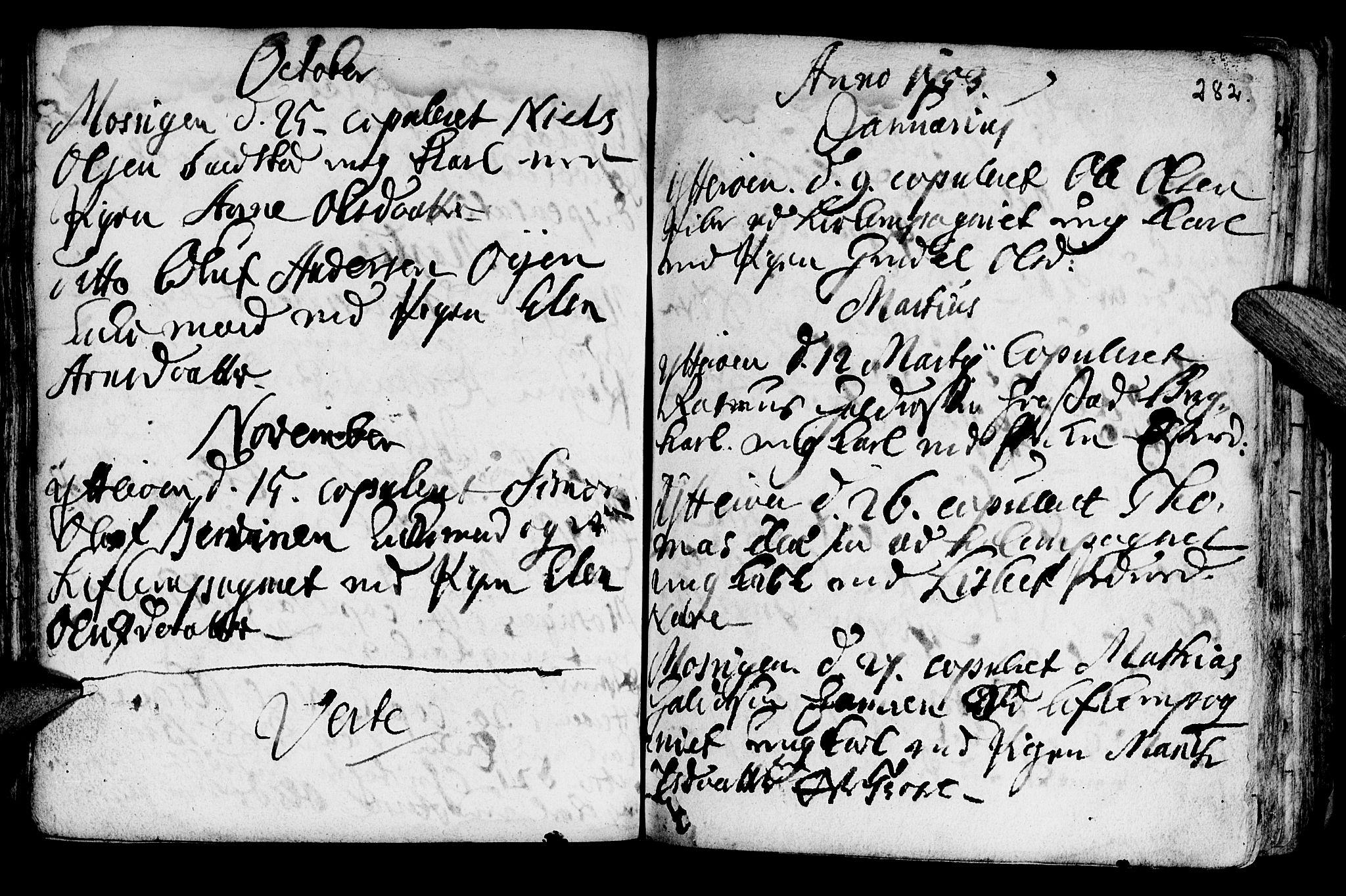 SAT, Ministerialprotokoller, klokkerbøker og fødselsregistre - Nord-Trøndelag, 722/L0215: Ministerialbok nr. 722A02, 1718-1755, s. 282