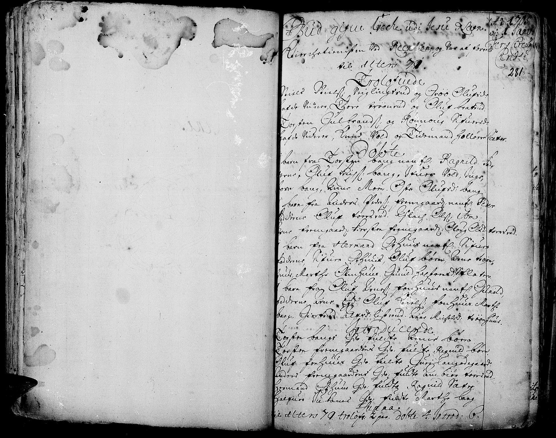 SAH, Aurdal prestekontor, Ministerialbok nr. 1-3, 1692-1730, s. 281