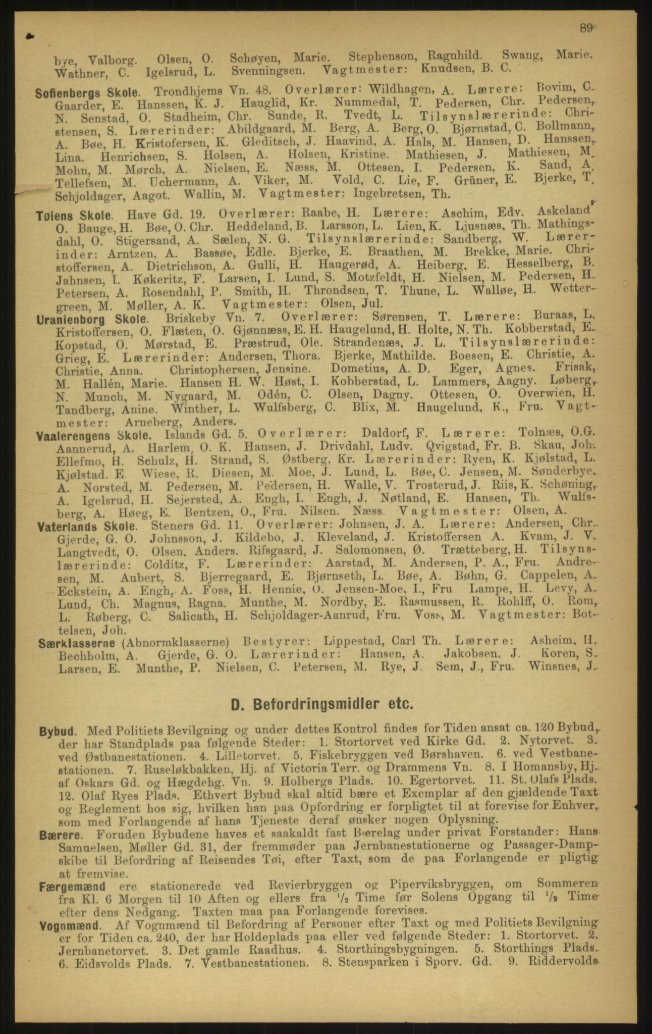 PUBL, Kristiania/Oslo adressebok, 1897, s. 89