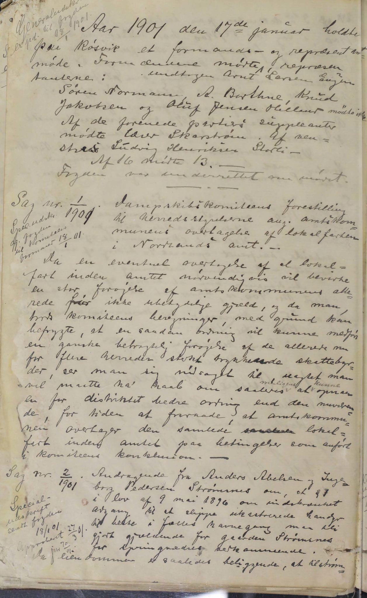 AIN, Sørfold kommune. Formannskap, 100/L0001: Forhandlingsprotokol for Sørfoldens formandskab, 1885-1902
