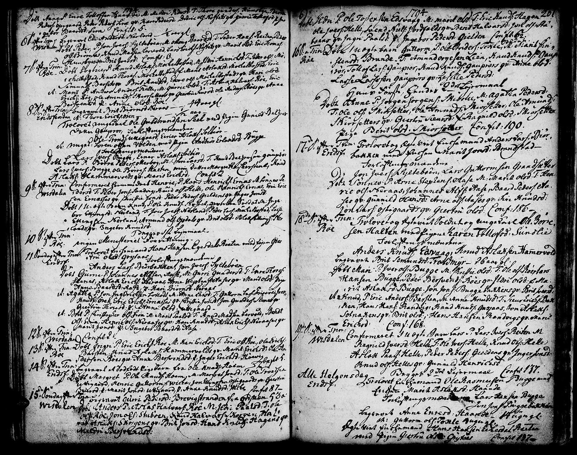 SAT, Ministerialprotokoller, klokkerbøker og fødselsregistre - Møre og Romsdal, 551/L0621: Ministerialbok nr. 551A01, 1757-1803, s. 201