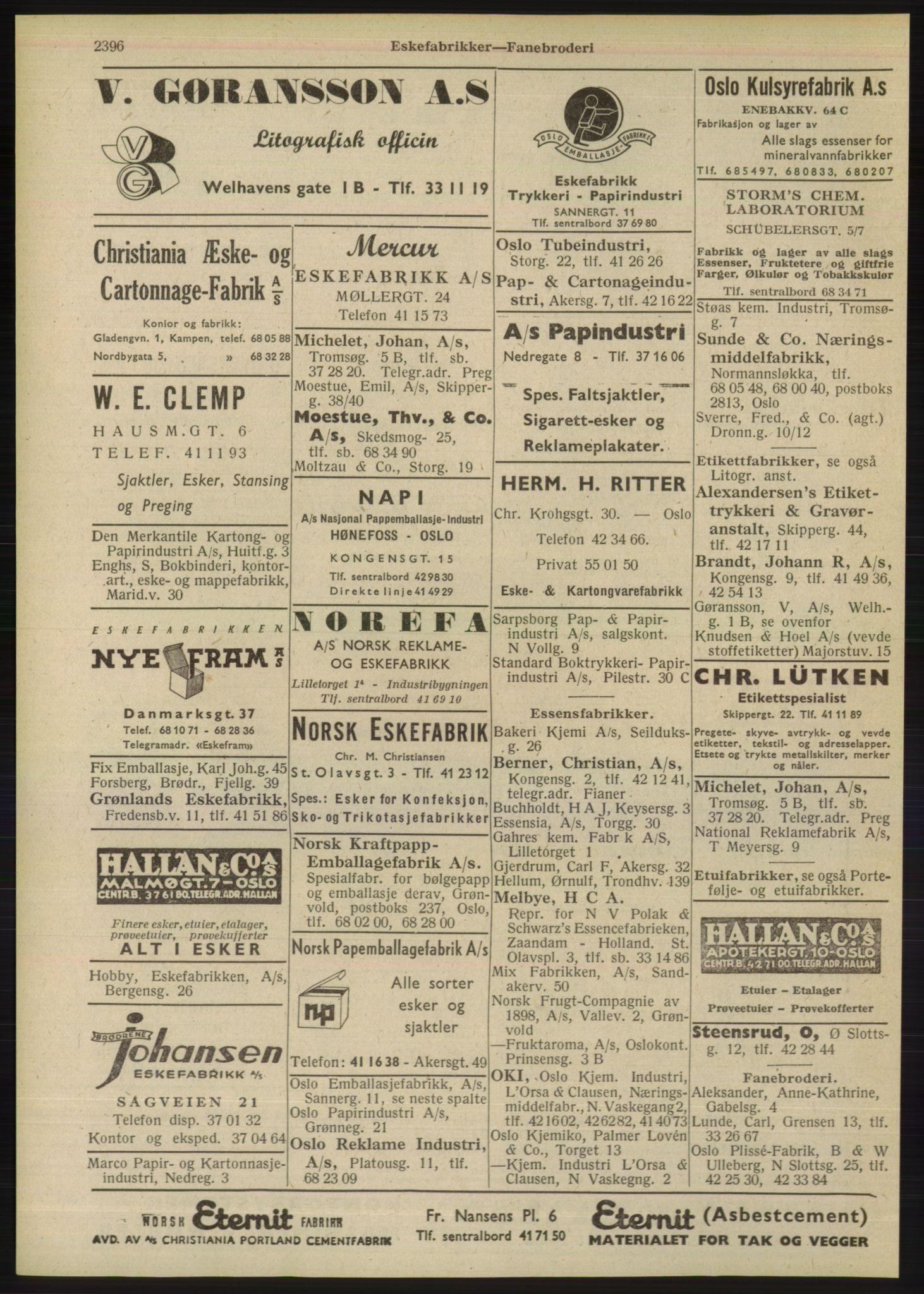 RA, Oslo adressebok (publikasjon)*, 1948, s. 2396