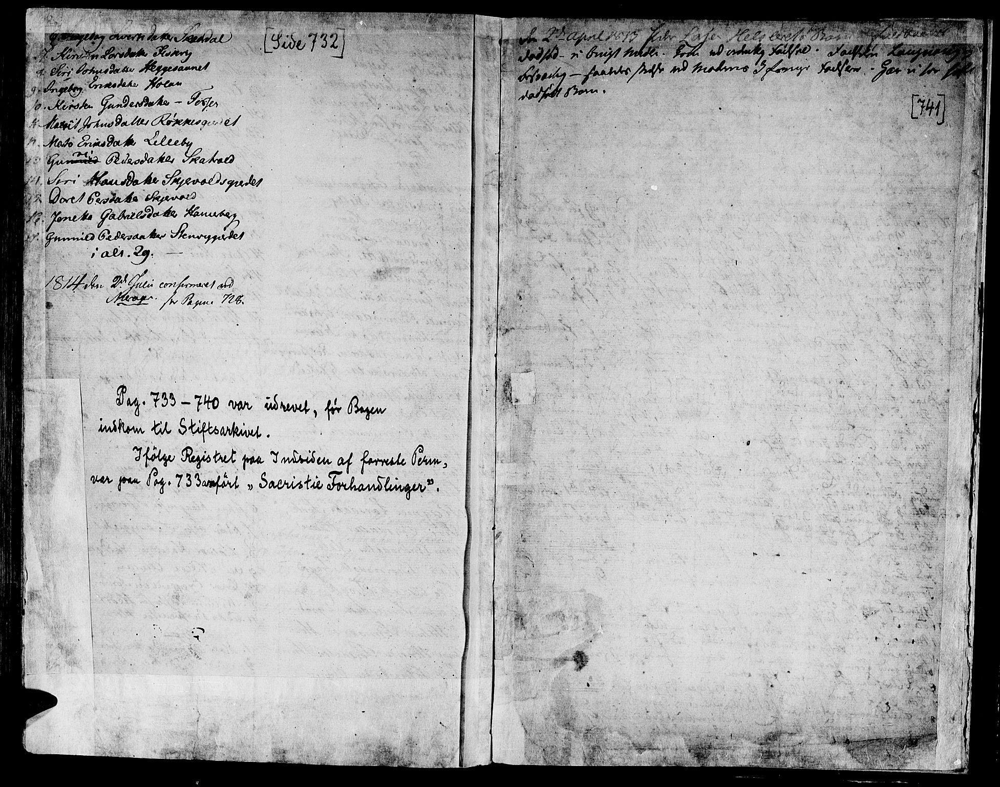 SAT, Ministerialprotokoller, klokkerbøker og fødselsregistre - Nord-Trøndelag, 709/L0060: Ministerialbok nr. 709A07, 1797-1815, s. 732-741