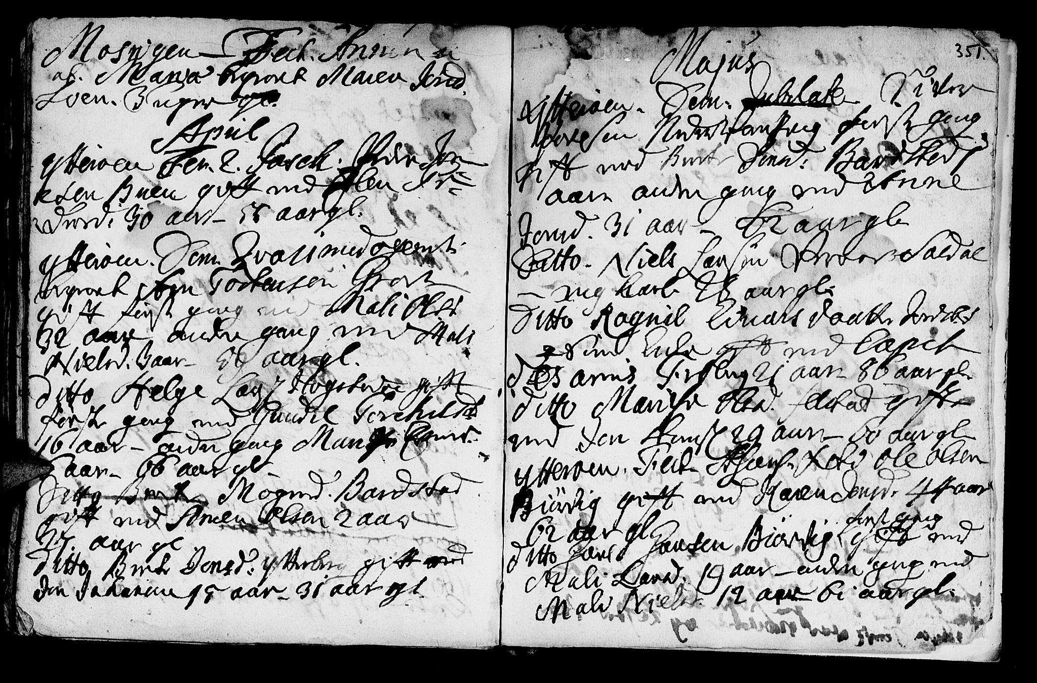 SAT, Ministerialprotokoller, klokkerbøker og fødselsregistre - Nord-Trøndelag, 722/L0215: Ministerialbok nr. 722A02, 1718-1755, s. 351