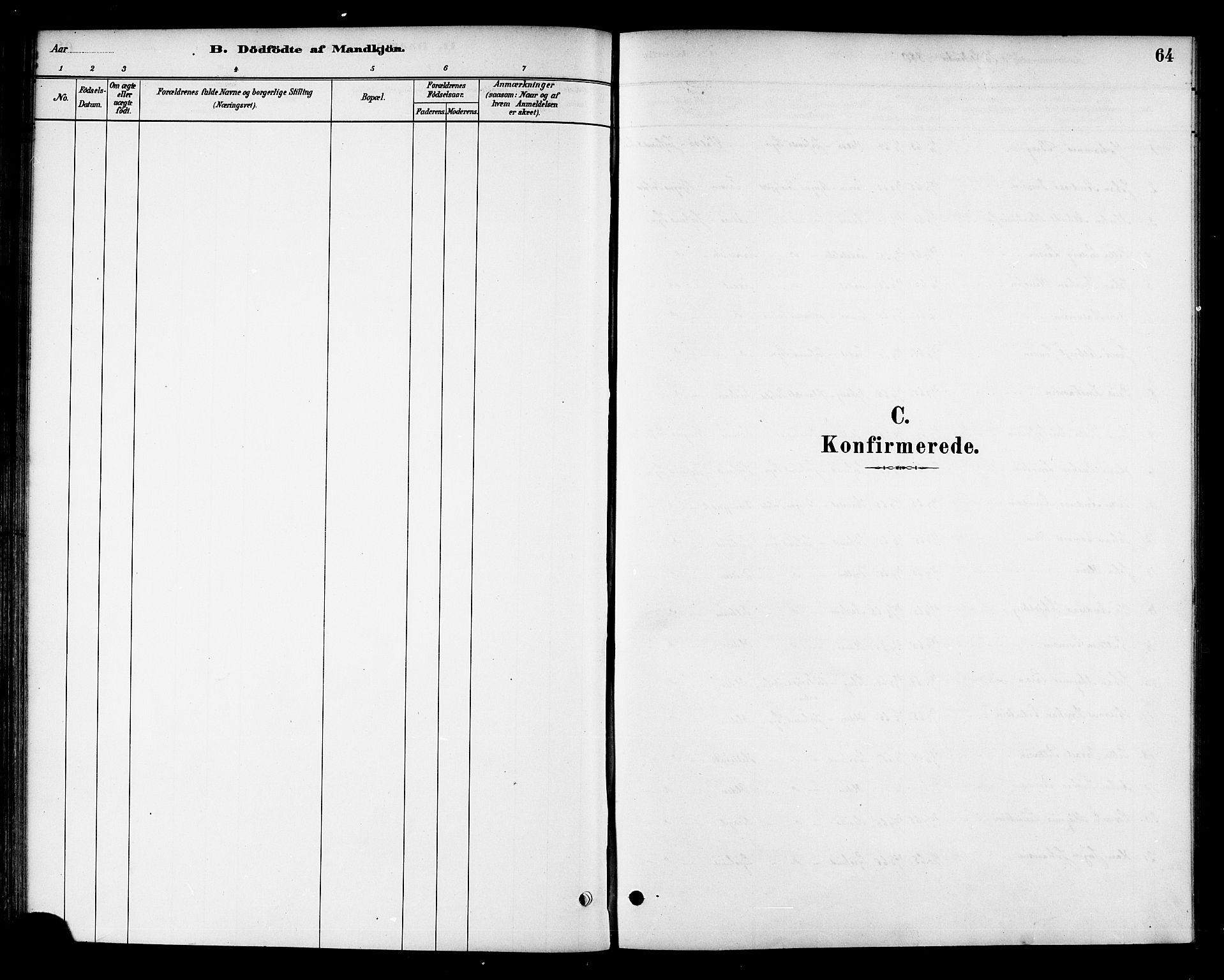 SAT, Ministerialprotokoller, klokkerbøker og fødselsregistre - Sør-Trøndelag, 654/L0663: Ministerialbok nr. 654A01, 1880-1894, s. 64
