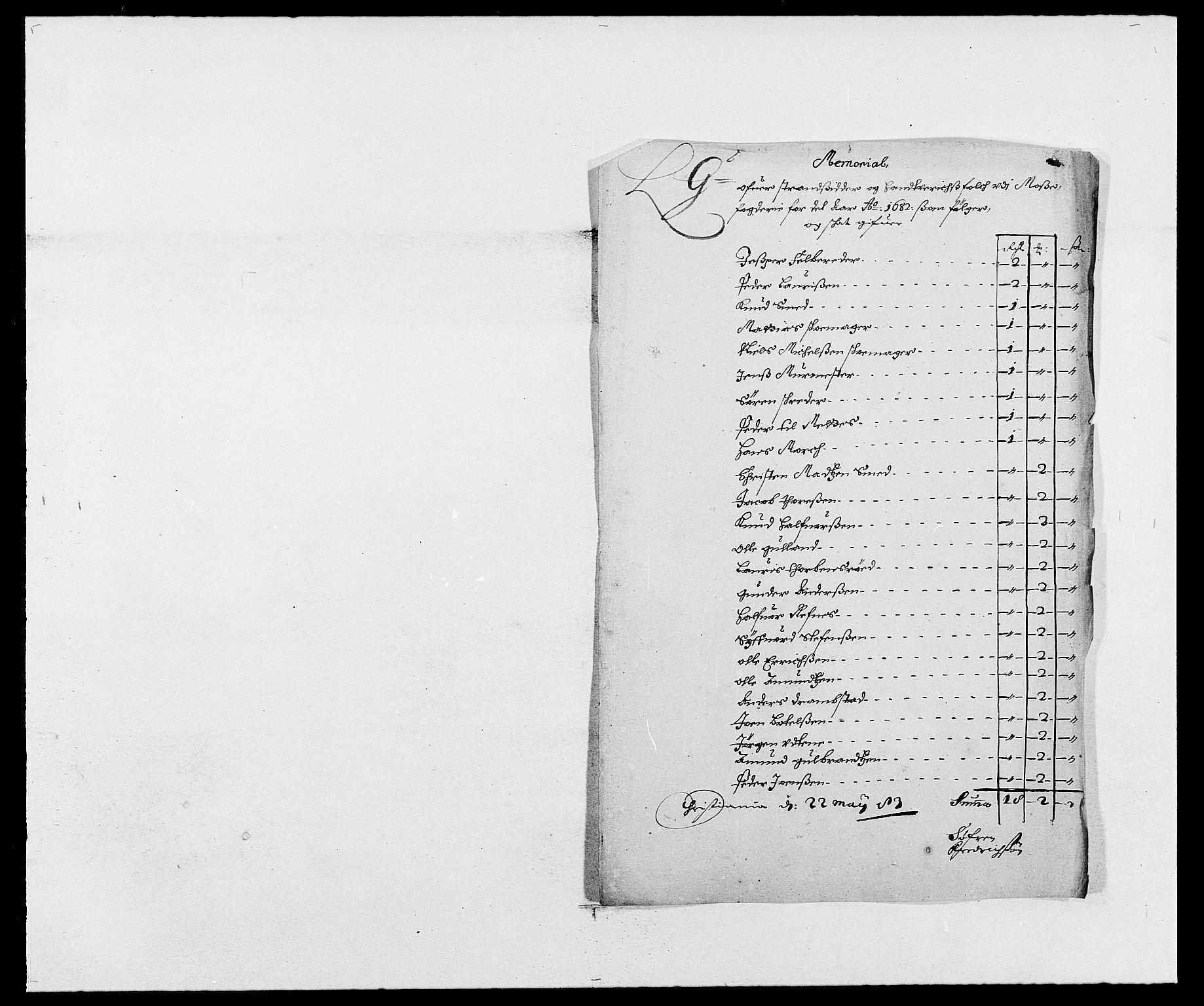 RA, Rentekammeret inntil 1814, Reviderte regnskaper, Fogderegnskap, R02/L0103: Fogderegnskap Moss og Verne kloster, 1682-1684, s. 224