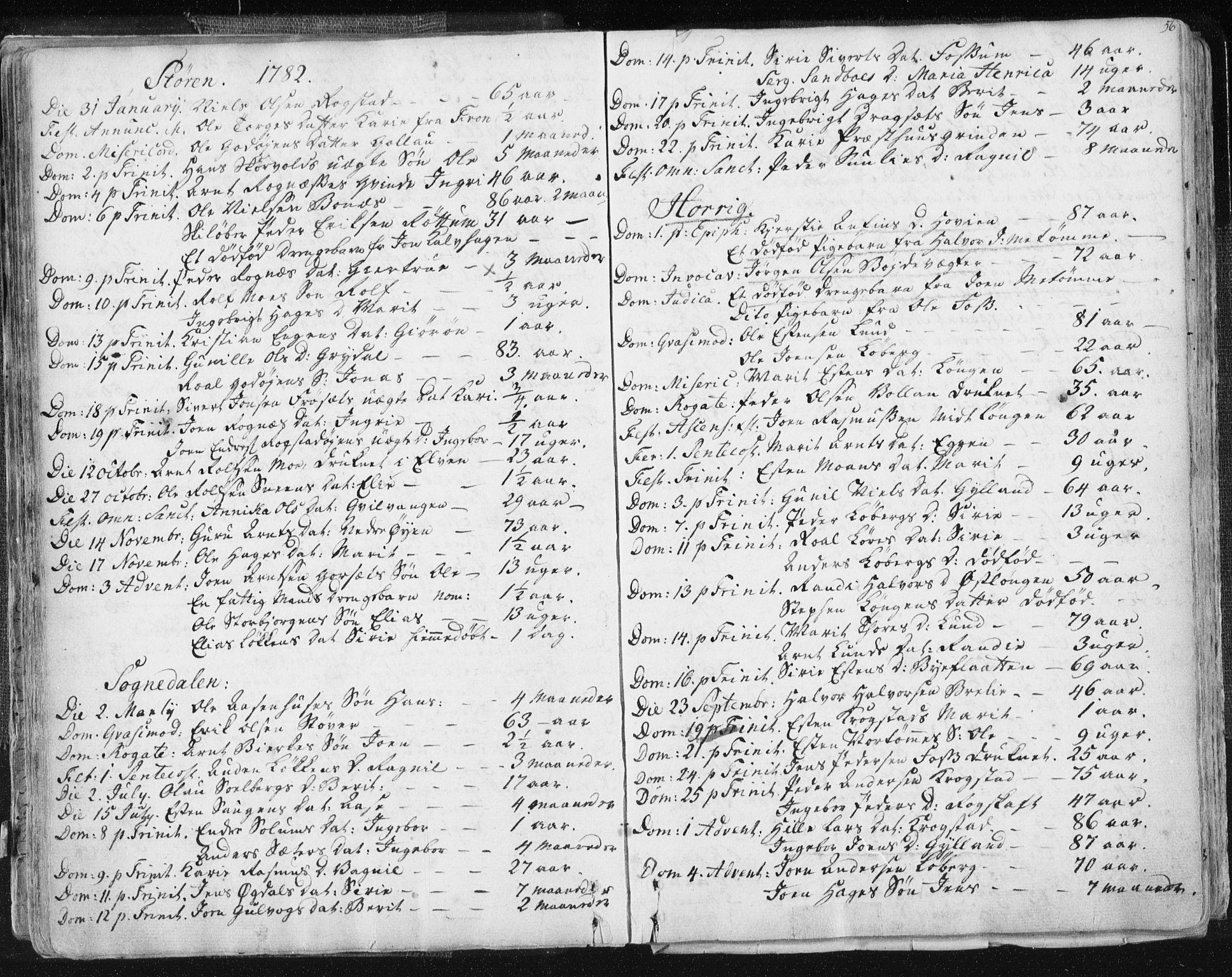 SAT, Ministerialprotokoller, klokkerbøker og fødselsregistre - Sør-Trøndelag, 687/L0991: Ministerialbok nr. 687A02, 1747-1790, s. 56