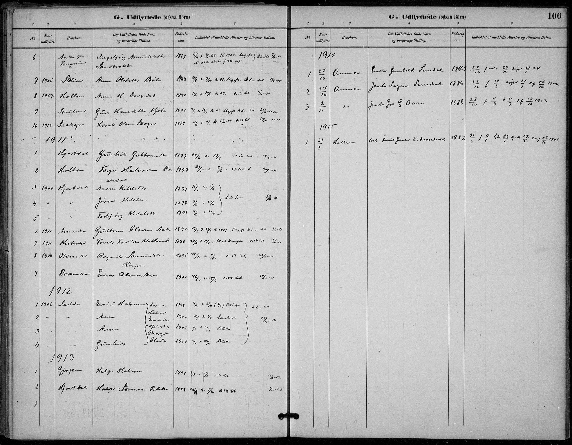 SAKO, Seljord kirkebøker, F/Fb/L0002: Ministerialbok nr. II 2, 1887-1917, s. 106