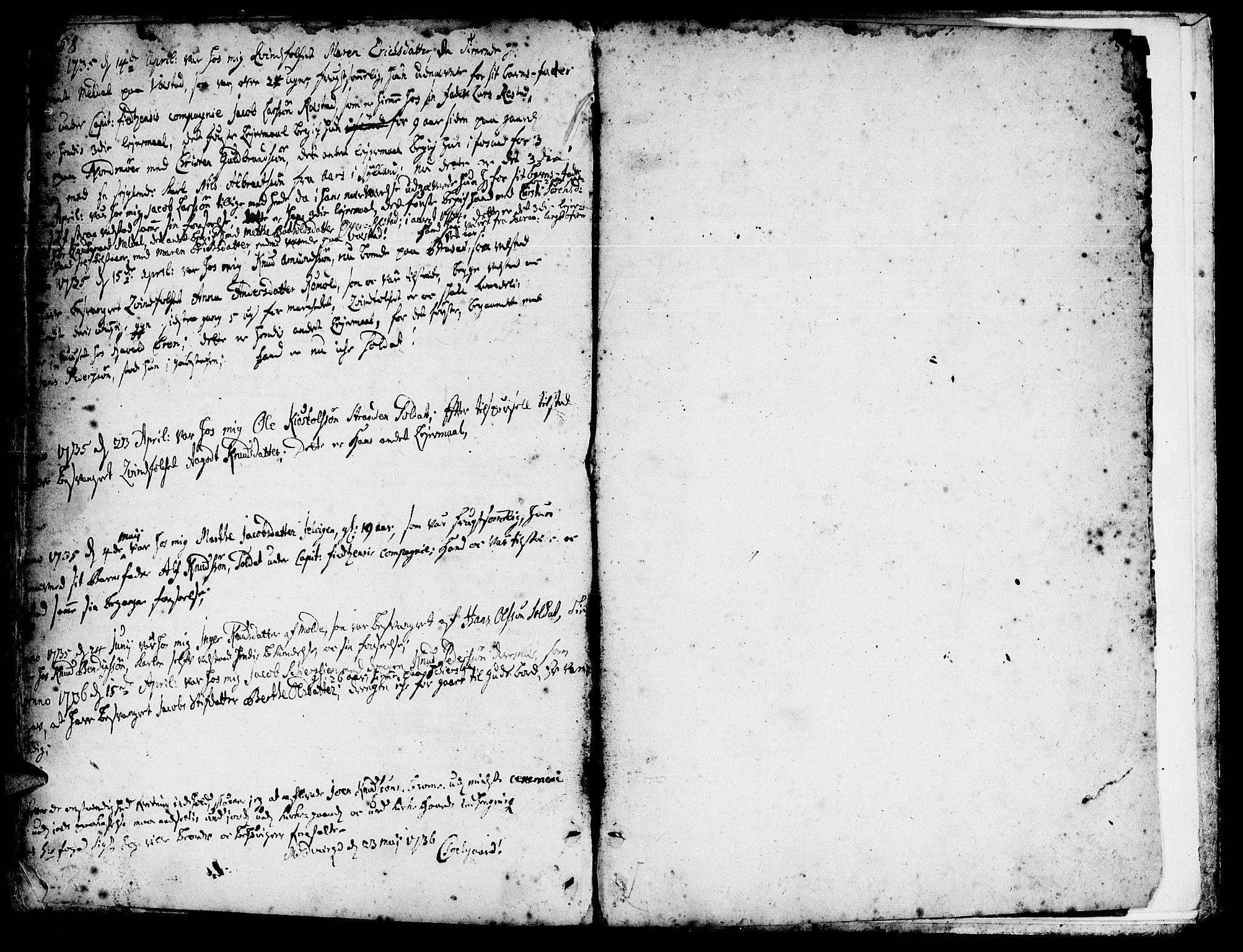SAT, Ministerialprotokoller, klokkerbøker og fødselsregistre - Møre og Romsdal, 547/L0599: Ministerialbok nr. 547A01, 1721-1764, s. 558