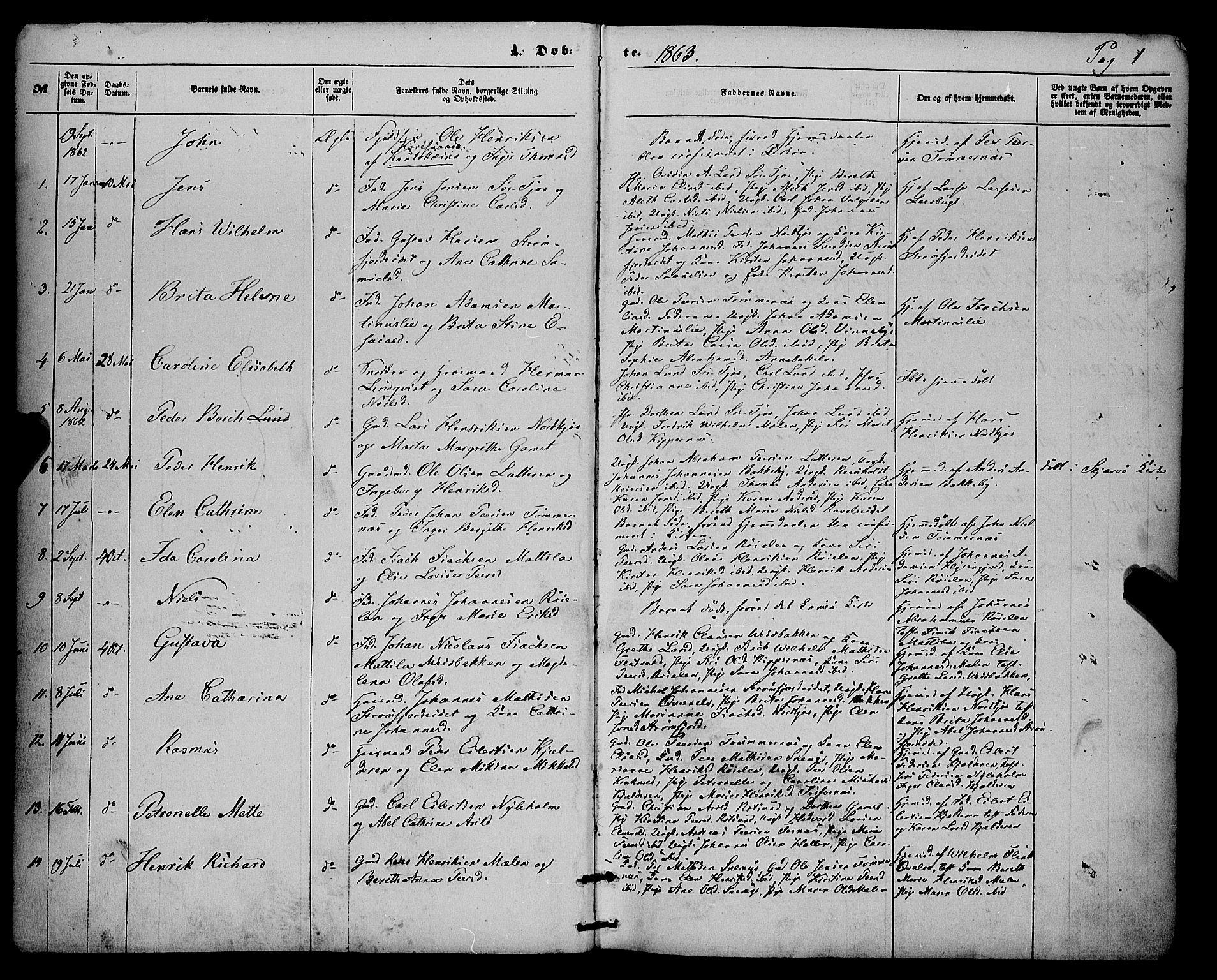 SATØ, Skjervøy sokneprestkontor, H/Ha/Haa/L0013kirke: Ministerialbok nr. 13, 1863-1877, s. 1