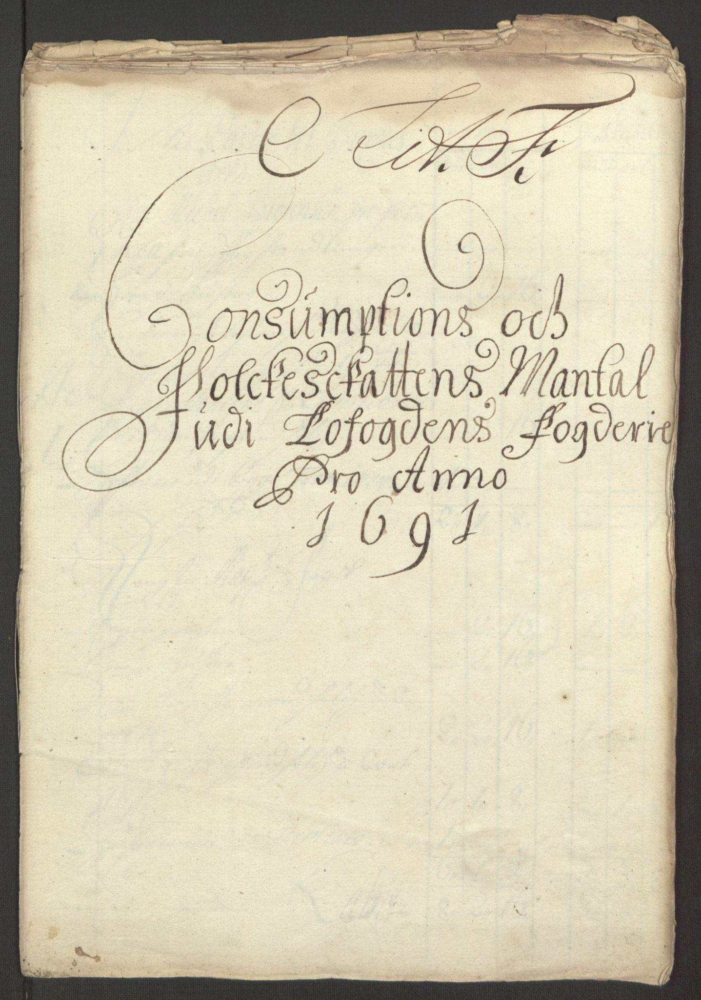 RA, Rentekammeret inntil 1814, Reviderte regnskaper, Fogderegnskap, R67/L4675: Fogderegnskap Vesterålen, Andenes og Lofoten, 1691-1693, s. 59