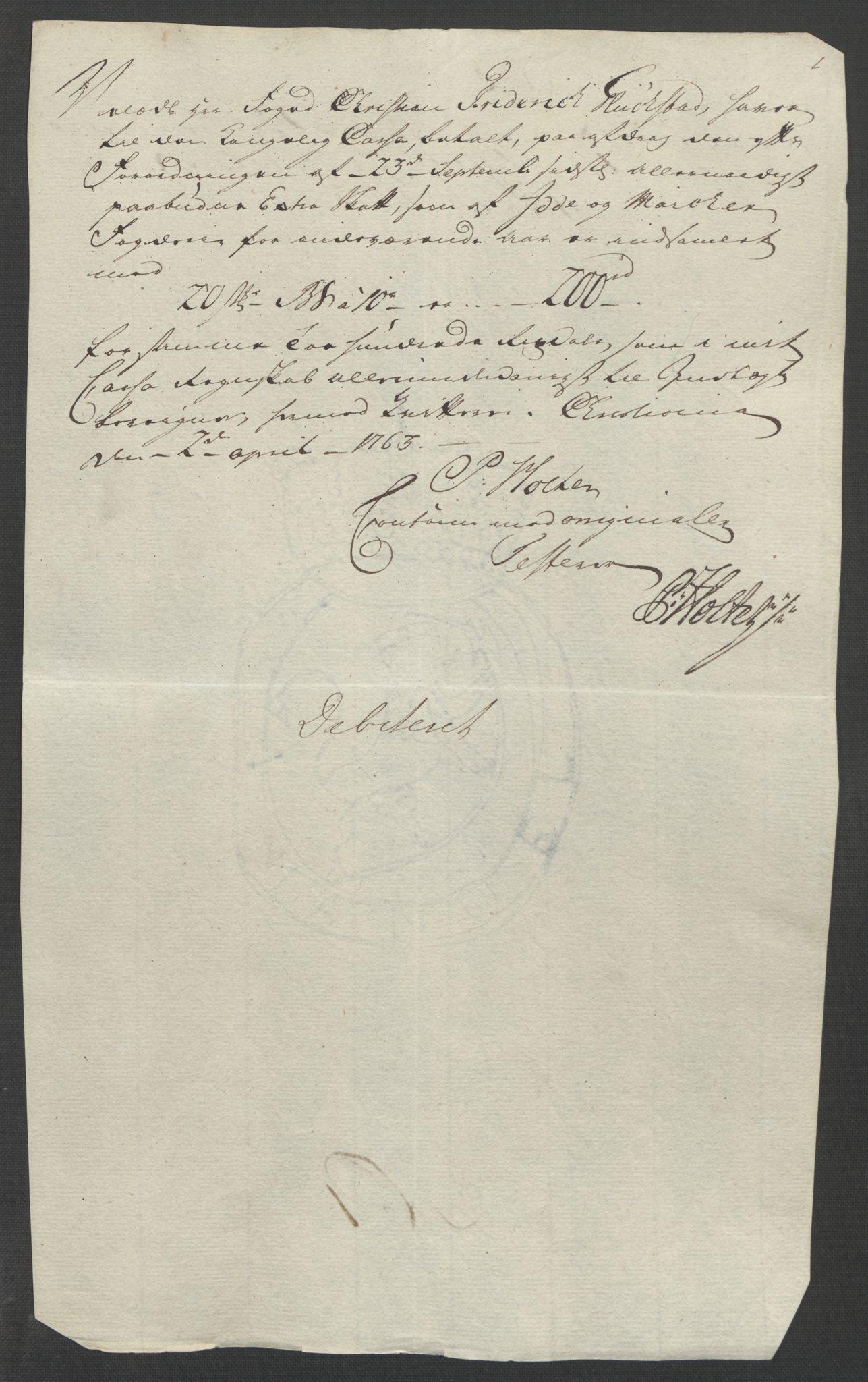 RA, Rentekammeret inntil 1814, Reviderte regnskaper, Fogderegnskap, R01/L0097: Ekstraskatten Idd og Marker, 1756-1767, s. 125
