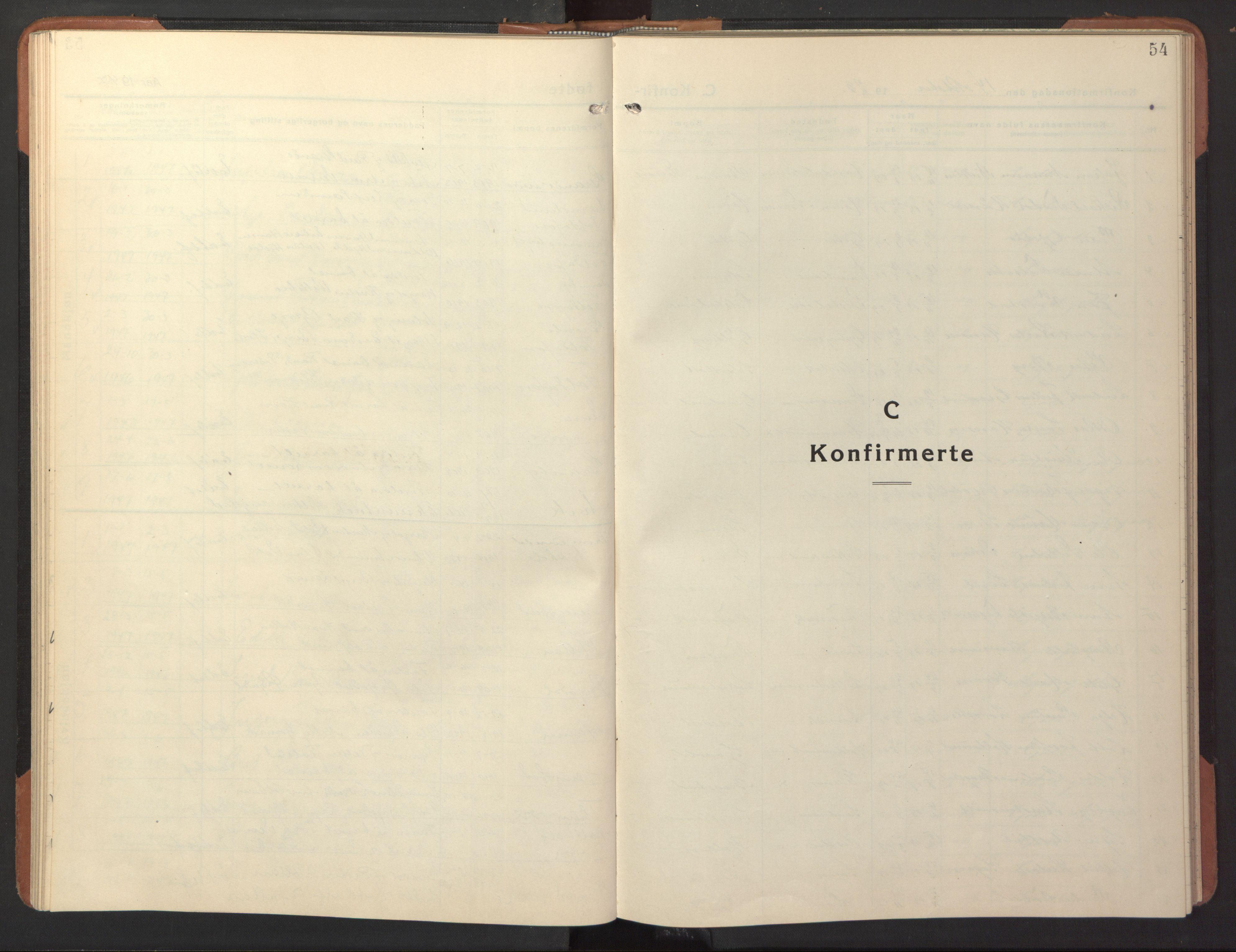 SAT, Ministerialprotokoller, klokkerbøker og fødselsregistre - Nord-Trøndelag, 744/L0425: Klokkerbok nr. 744C04, 1924-1947, s. 54