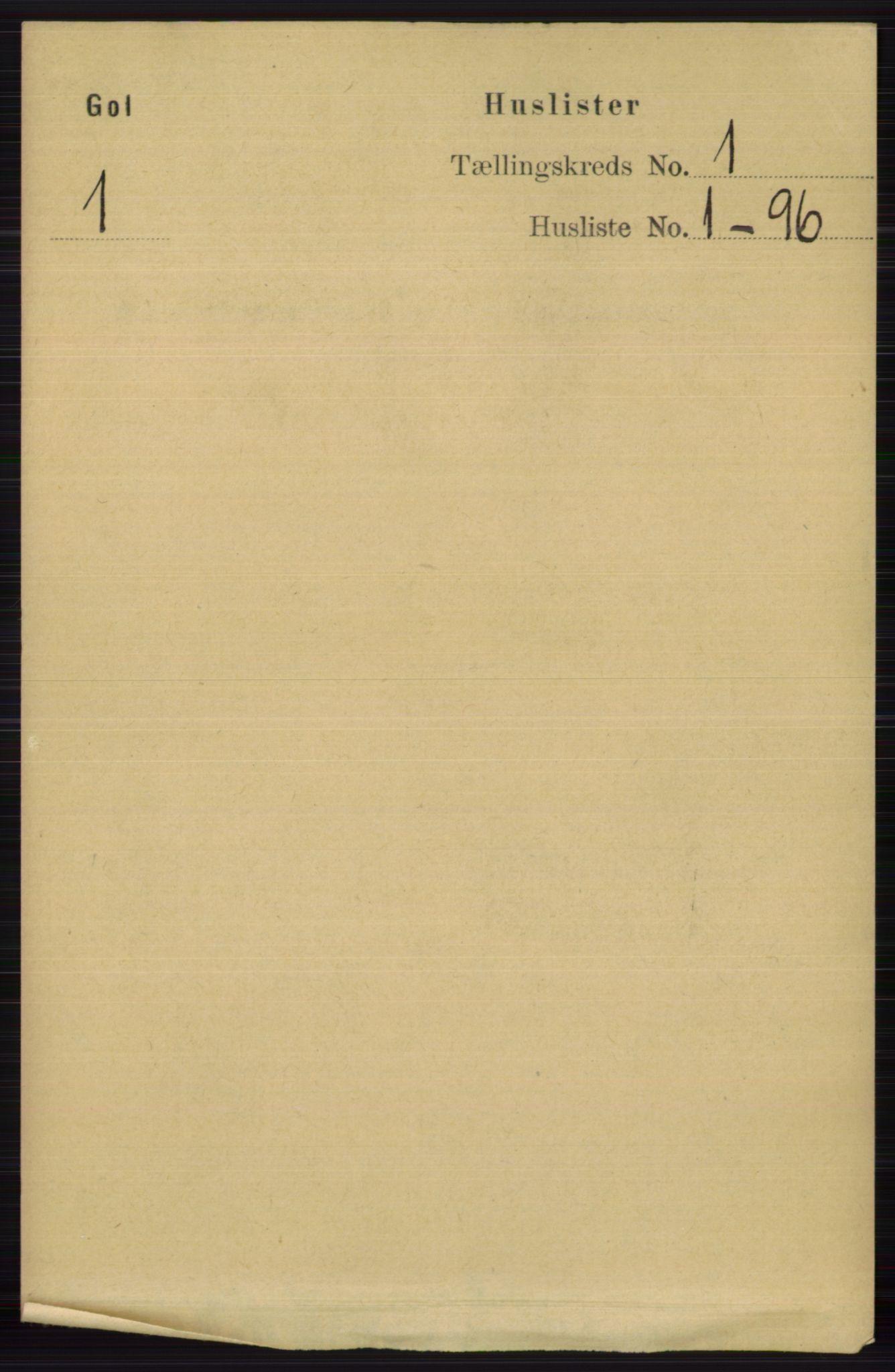 RA, Folketelling 1891 for 0617 Gol og Hemsedal herred, 1891, s. 27