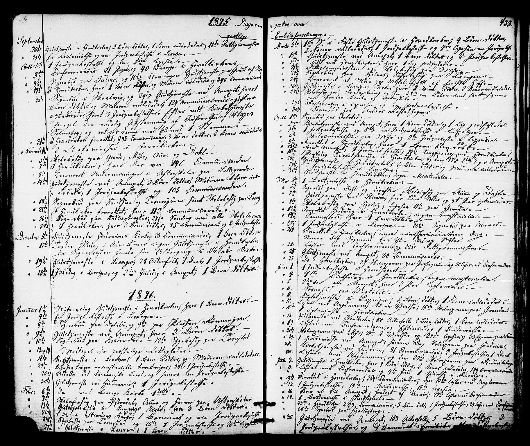 SAT, Ministerialprotokoller, klokkerbøker og fødselsregistre - Nord-Trøndelag, 701/L0009: Ministerialbok nr. 701A09 /1, 1864-1882, s. 433