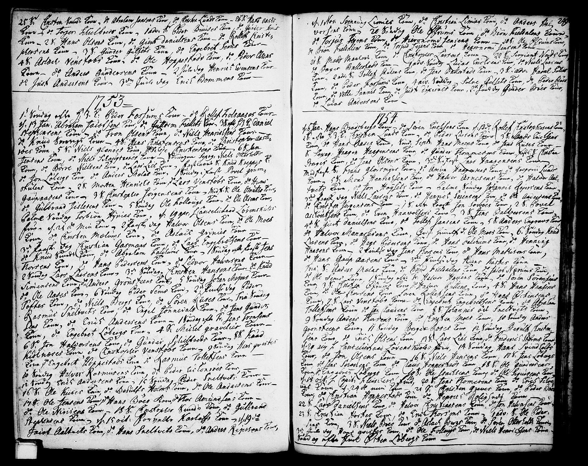 SAKO, Gjerpen kirkebøker, F/Fa/L0002: Ministerialbok nr. 2, 1747-1795, s. 249