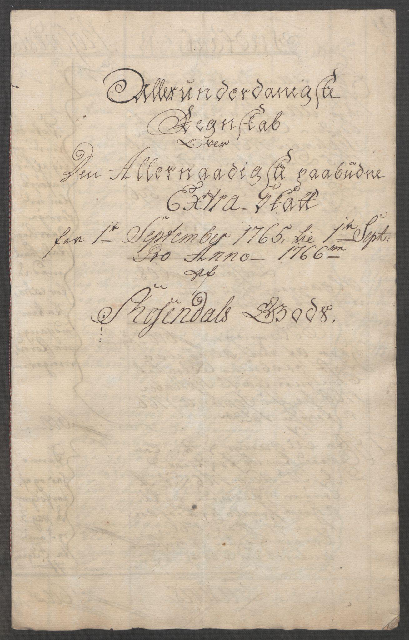 RA, Rentekammeret inntil 1814, Reviderte regnskaper, Fogderegnskap, R49/L3157: Ekstraskatten Rosendal Baroni, 1762-1772, s. 144
